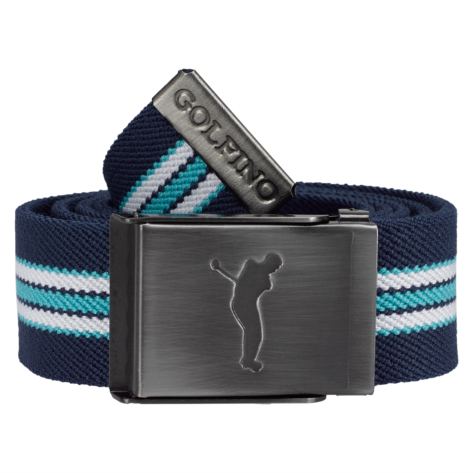 Striped Men's Golf reversible Belt with nickel-free clamping buckle