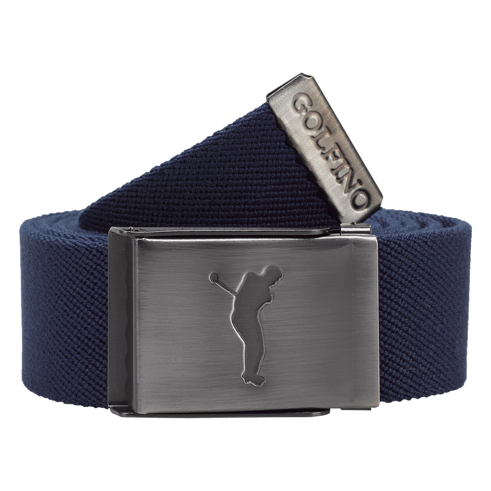 Gestreifter Herren Golf-Wendegürtel mit nickelfreier Klemm-Schnalle