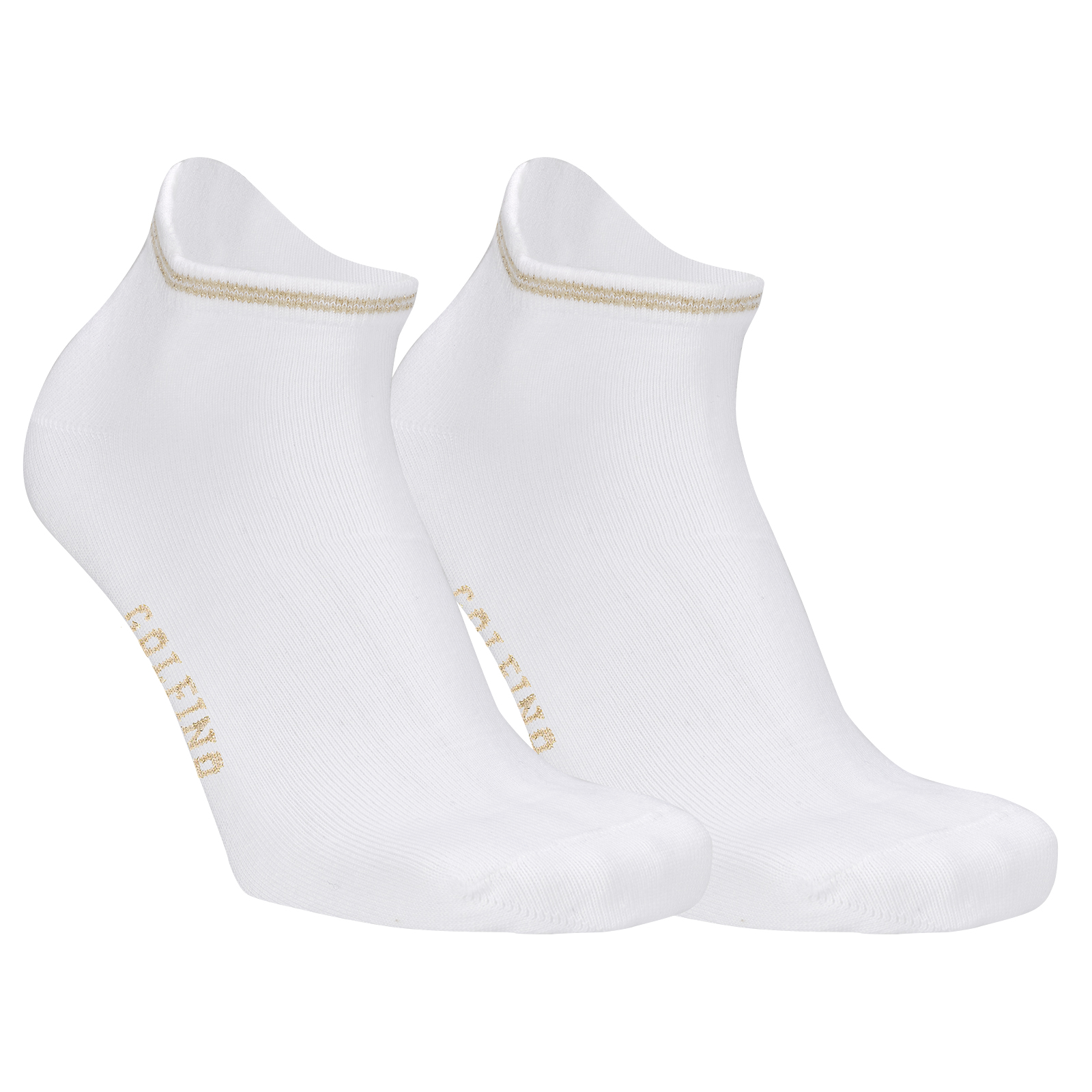 Damen Cotton-Blend Funktions-Golfsocken mit goldfarbenen Metalldetails