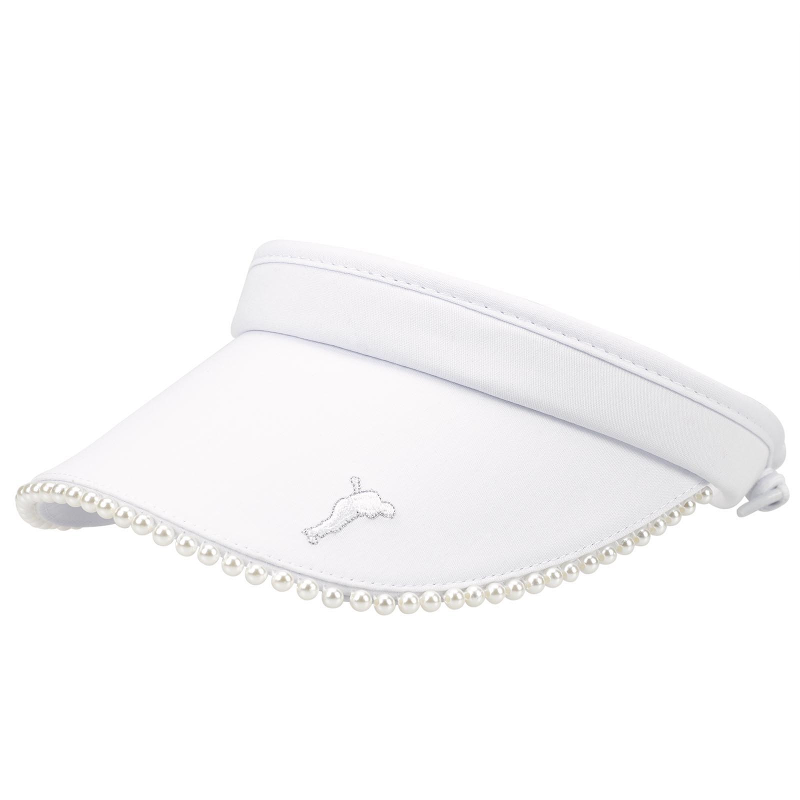 Ladies' beaded cable golf visor. More than an accessory!