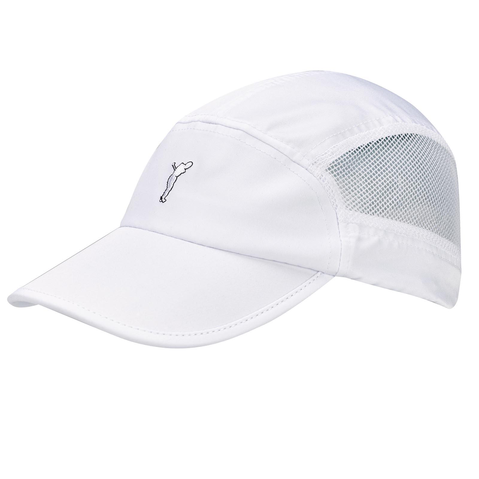 Herren Microfaser Golfcap mit seitlichen Mesh-Elementen für viel Ventilation