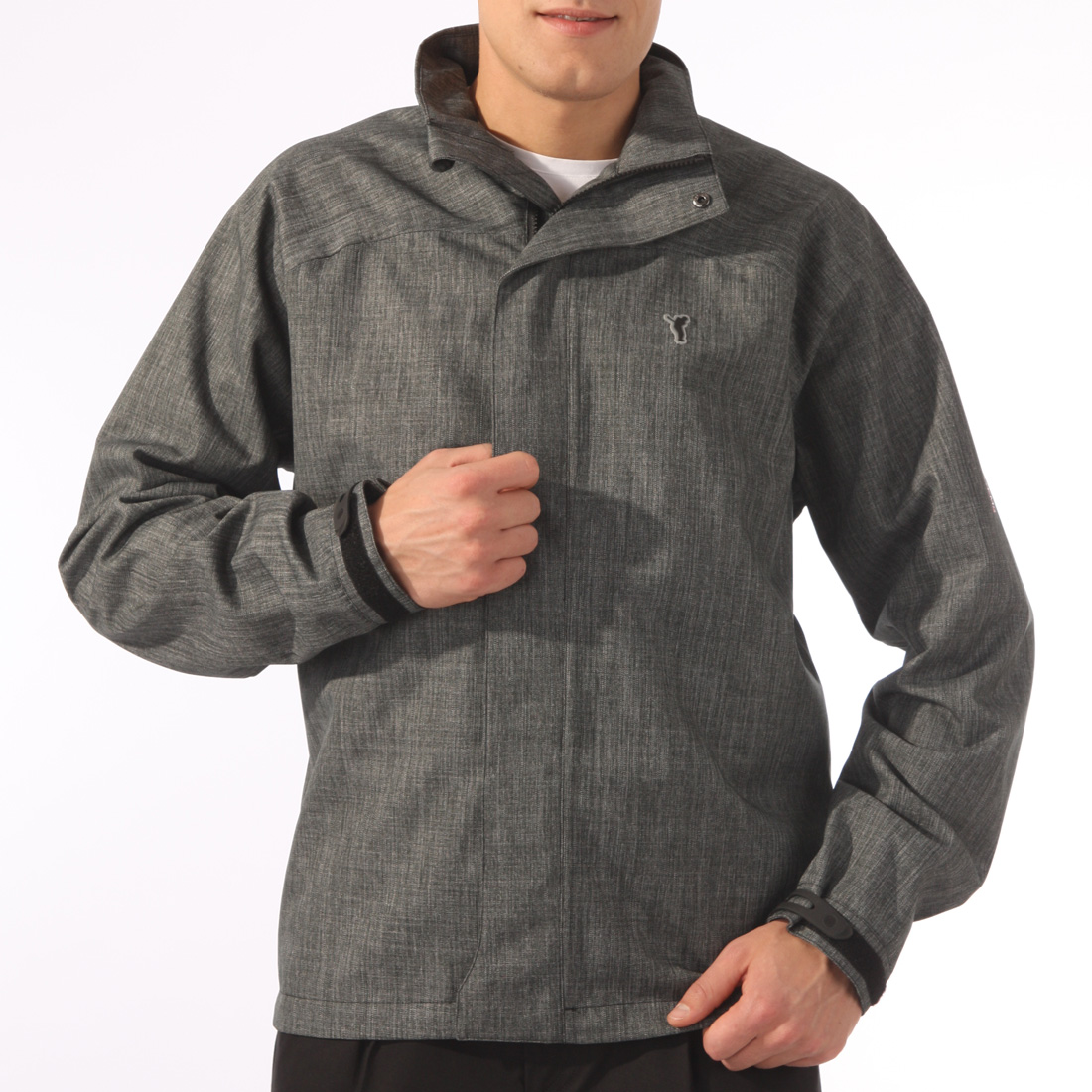 Mens Natural Look Rainproof Jacket
