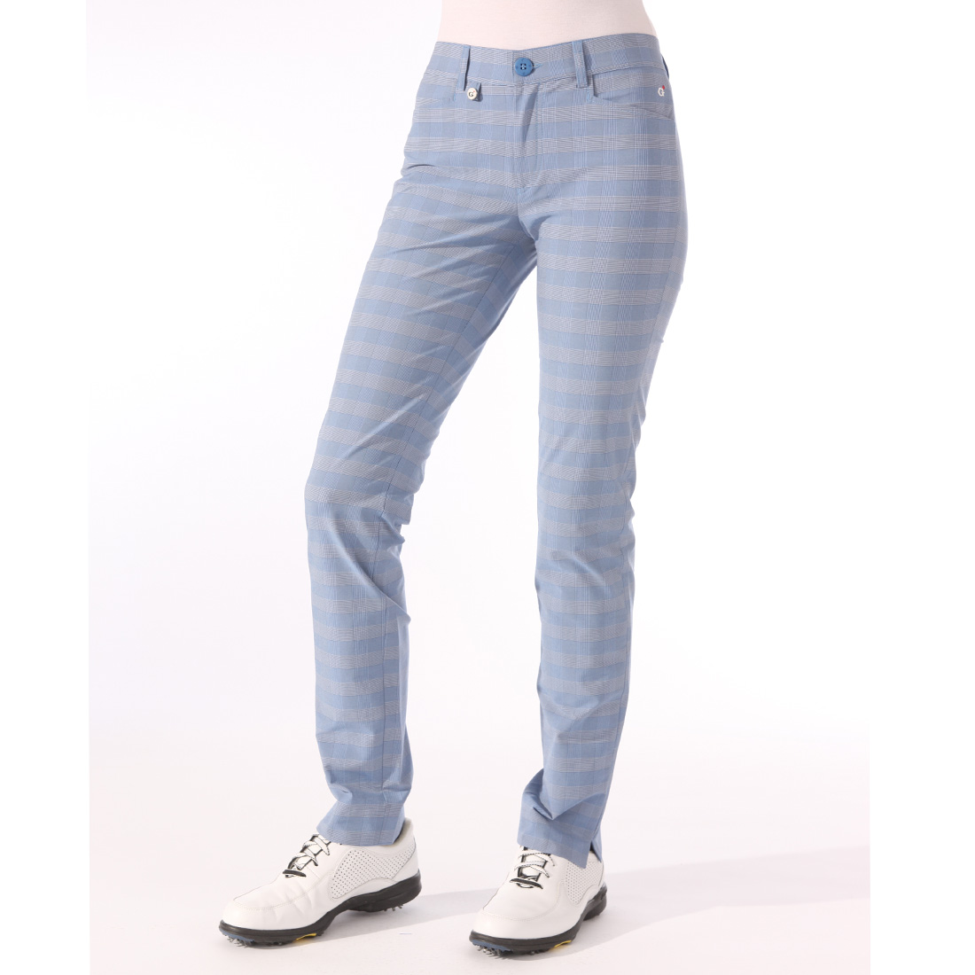 Checked Stretch Trousers