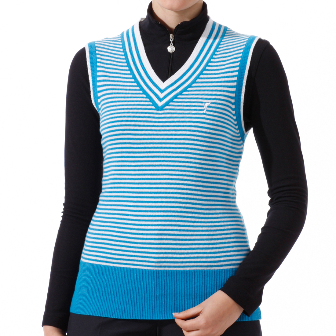 Striped V-Neck Pullunder