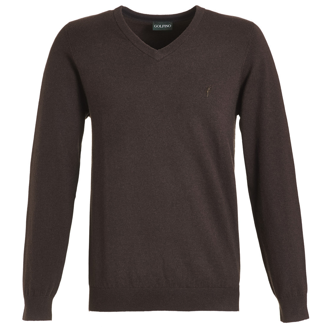 Klassischer Golf Pullover aus extrafeiner Wolle