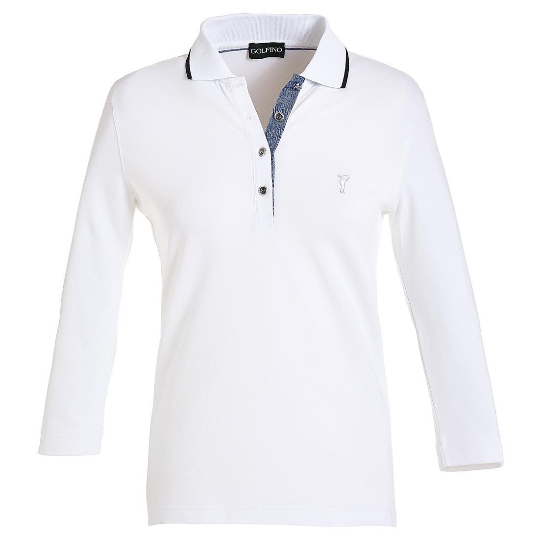 3/4-Arm Poloshirt mit Sonnenschutz