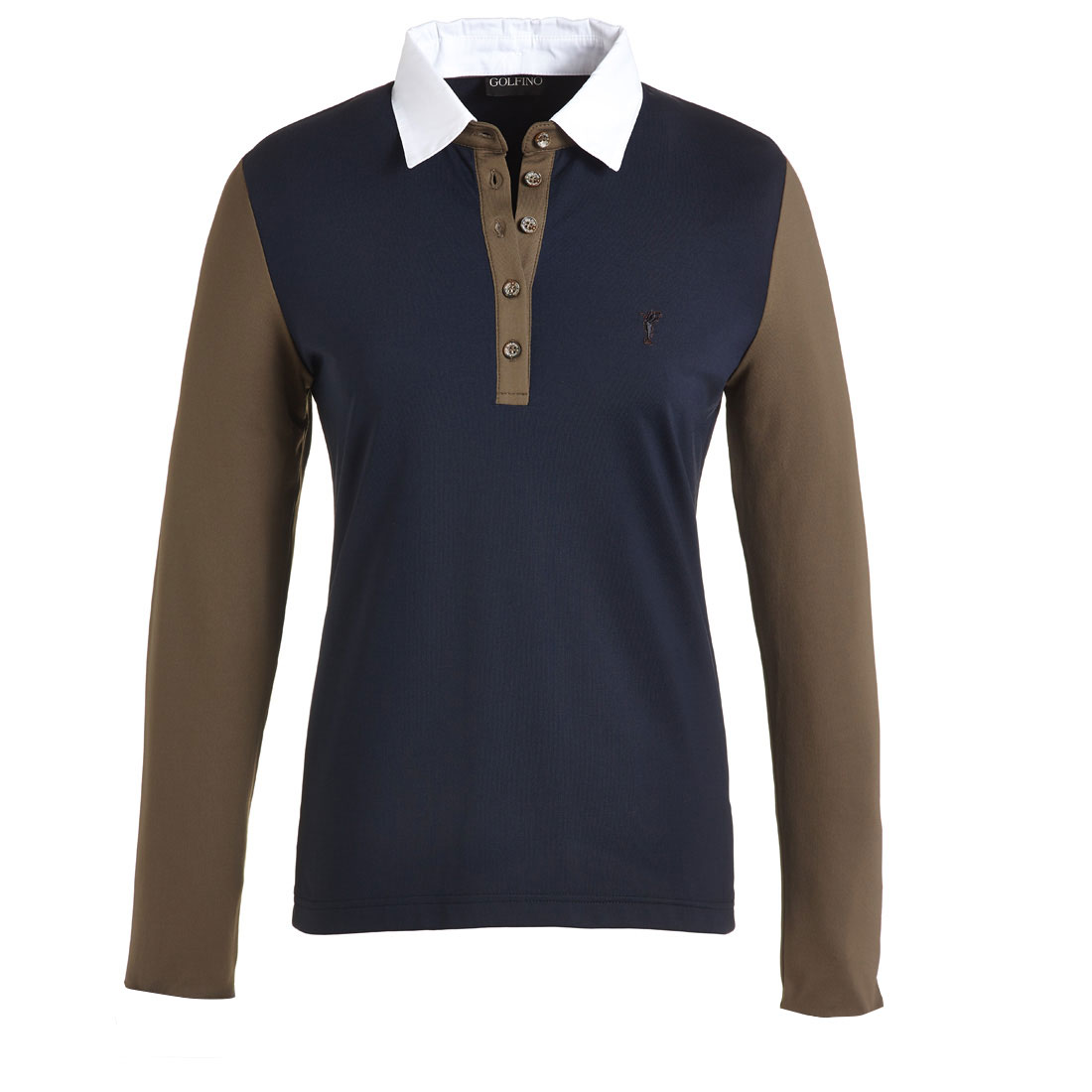 Poloshirt mit abnehmbaren Kragen und Manschetten