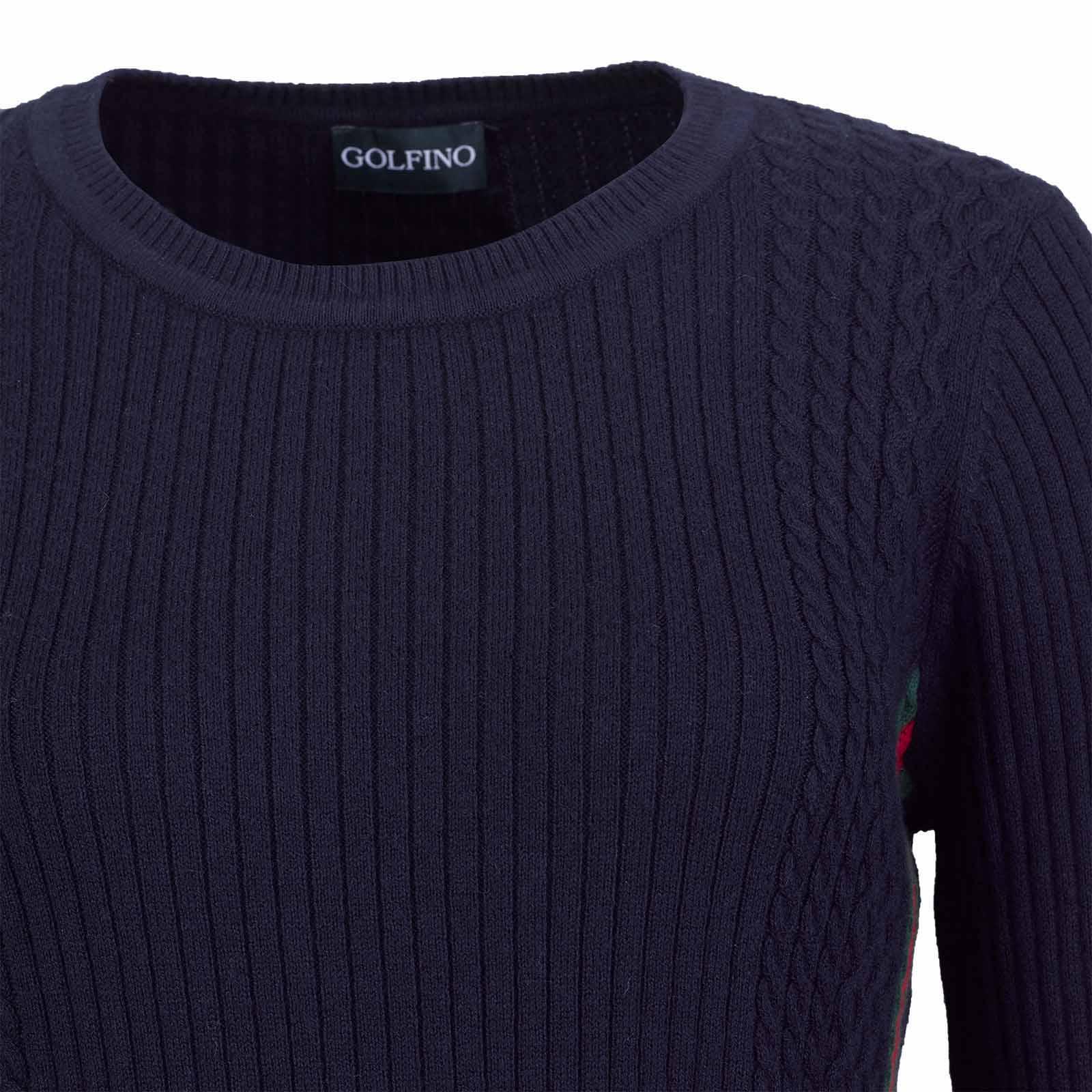 Damen Kaschmir-Blend Pullover mit Zopfmuster