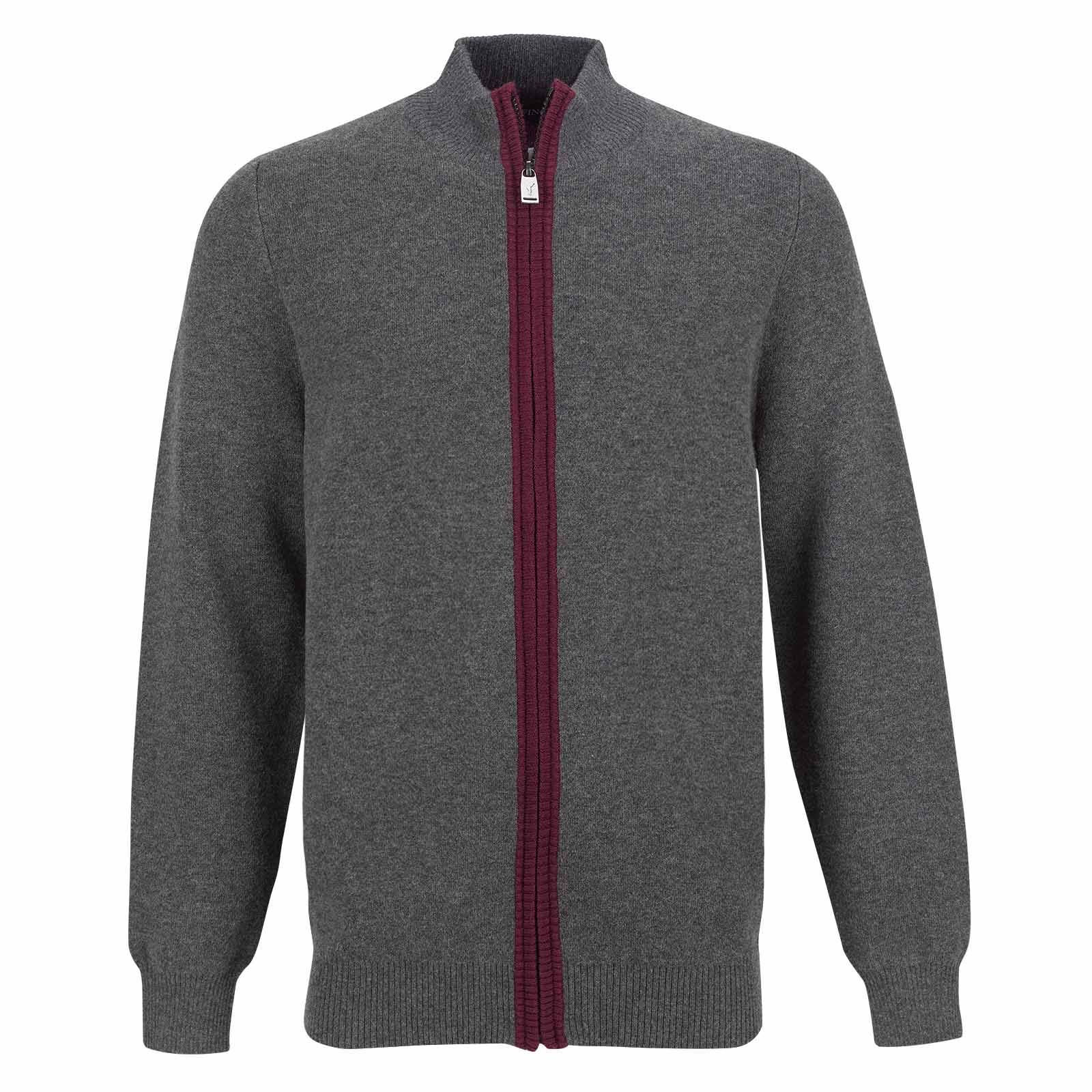 Men's golf cardigan with Merino cotton yarn