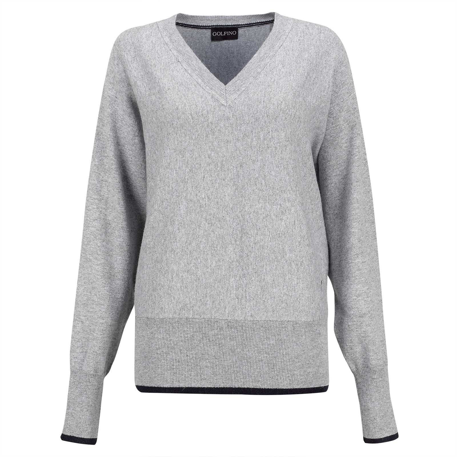 Ladies' Cold Protection v-neck sweater made from soft angora blend