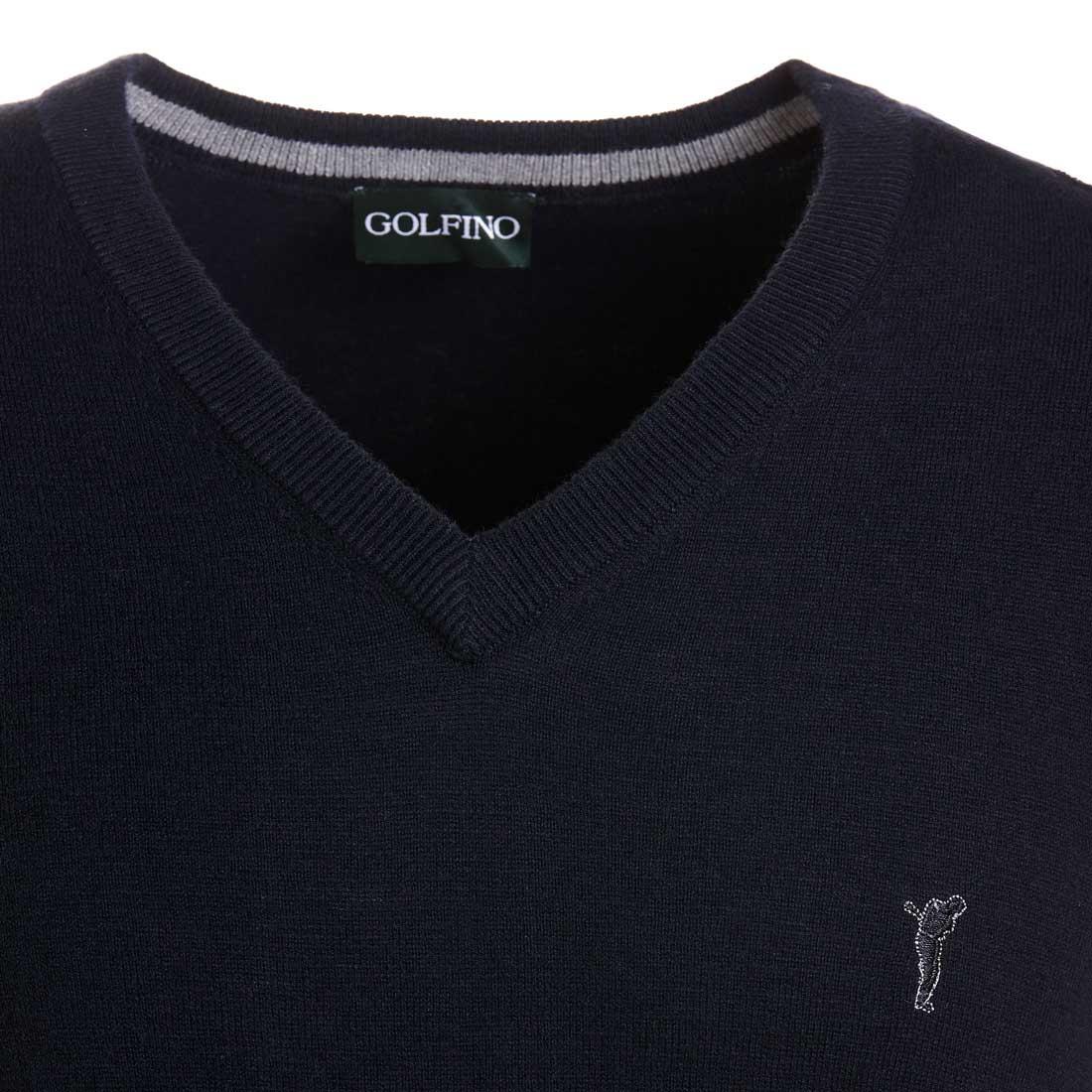 Klassischer Merino Herren-Golfpullunder mit V-Ausschnitt