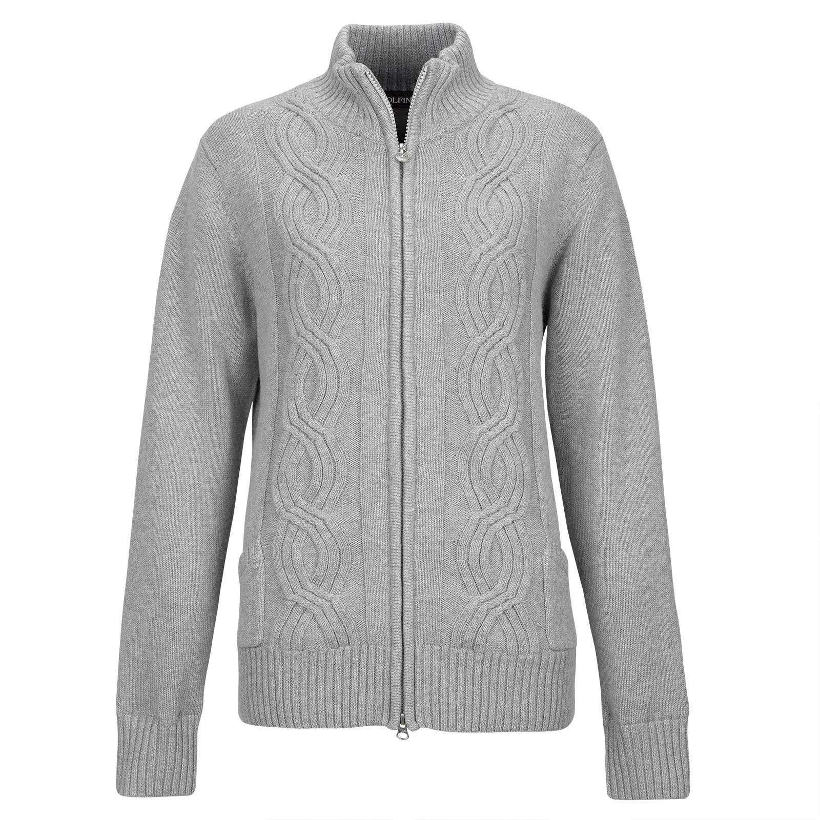 Damen Windstopper Strickjacke aus edlem Merino-Blend
