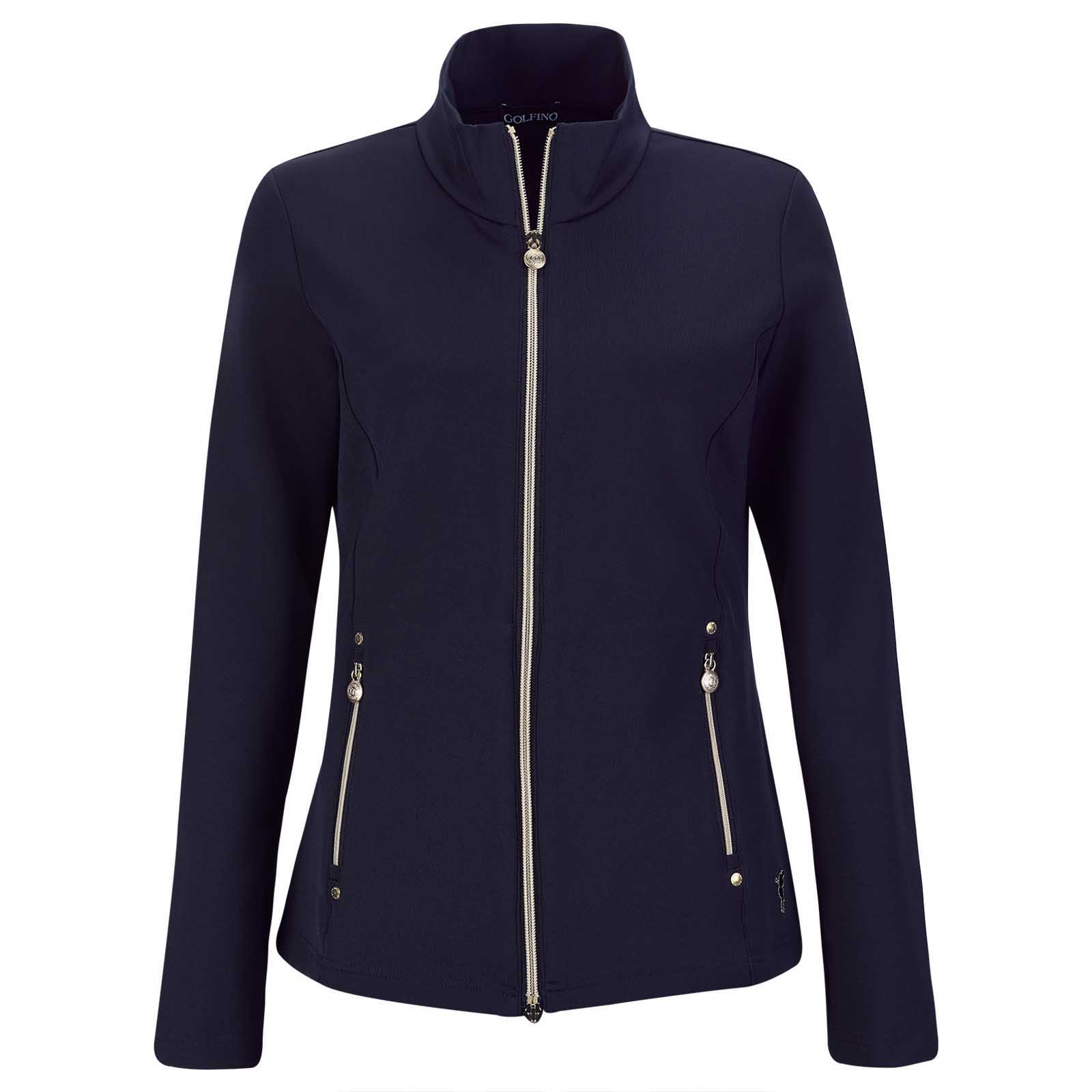 Ladies' mid-layer stretch golf jacket from cotton blend