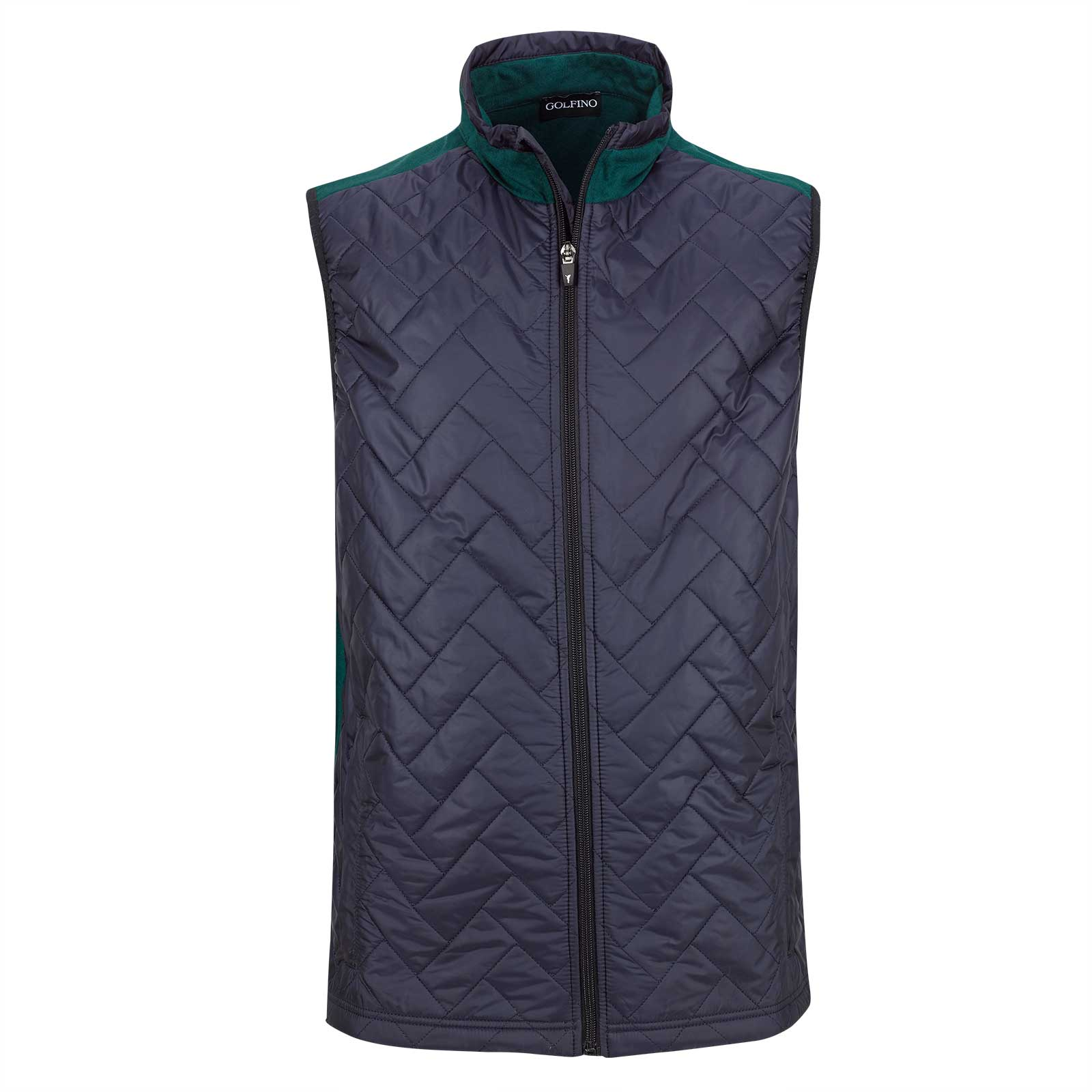 Men's wind protection golf waistcoat with padded front