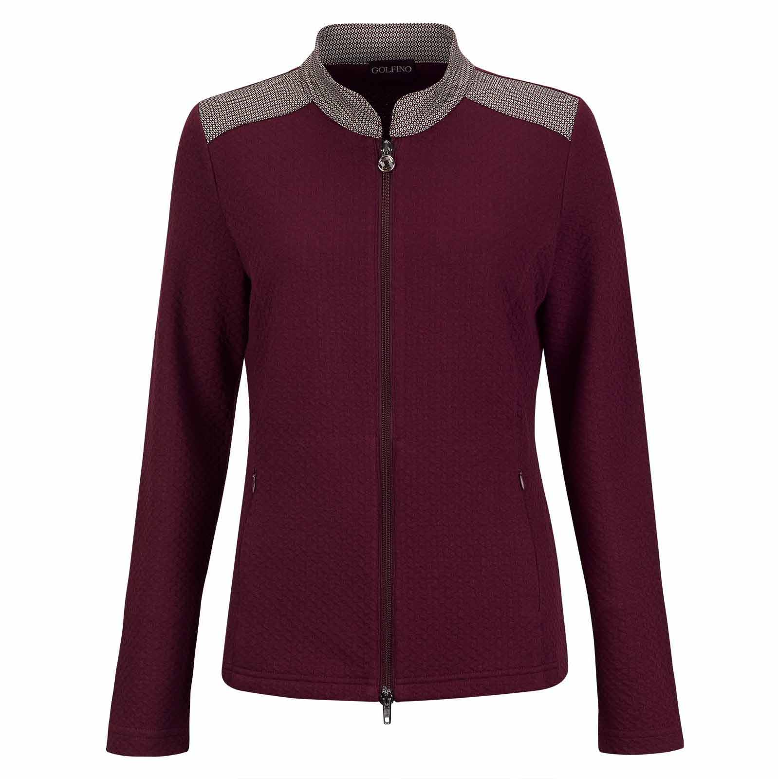 Ladies' mid-layer golf jacket with playful details and stretch function