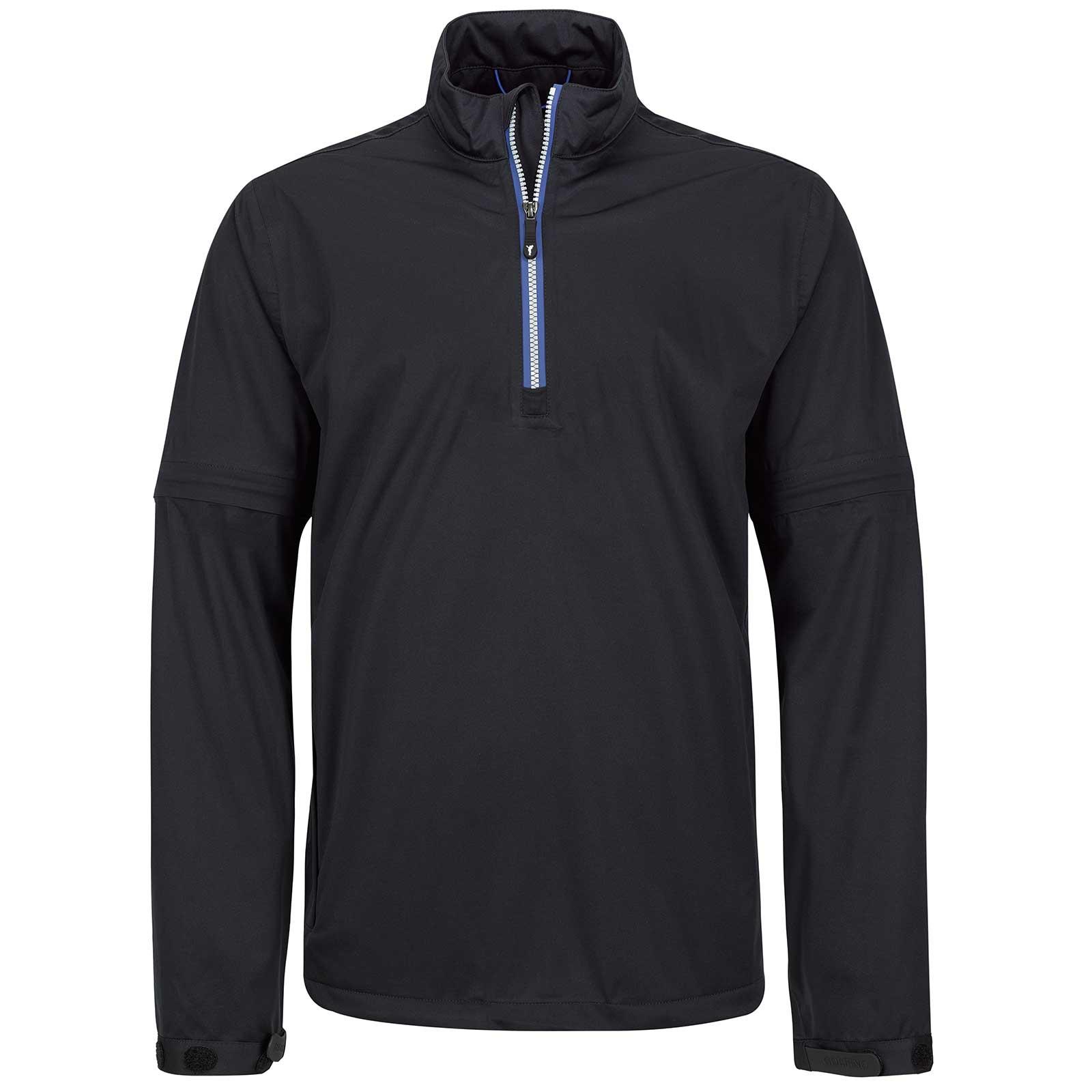 Waterproof men's rain jacket with detachable sleeves