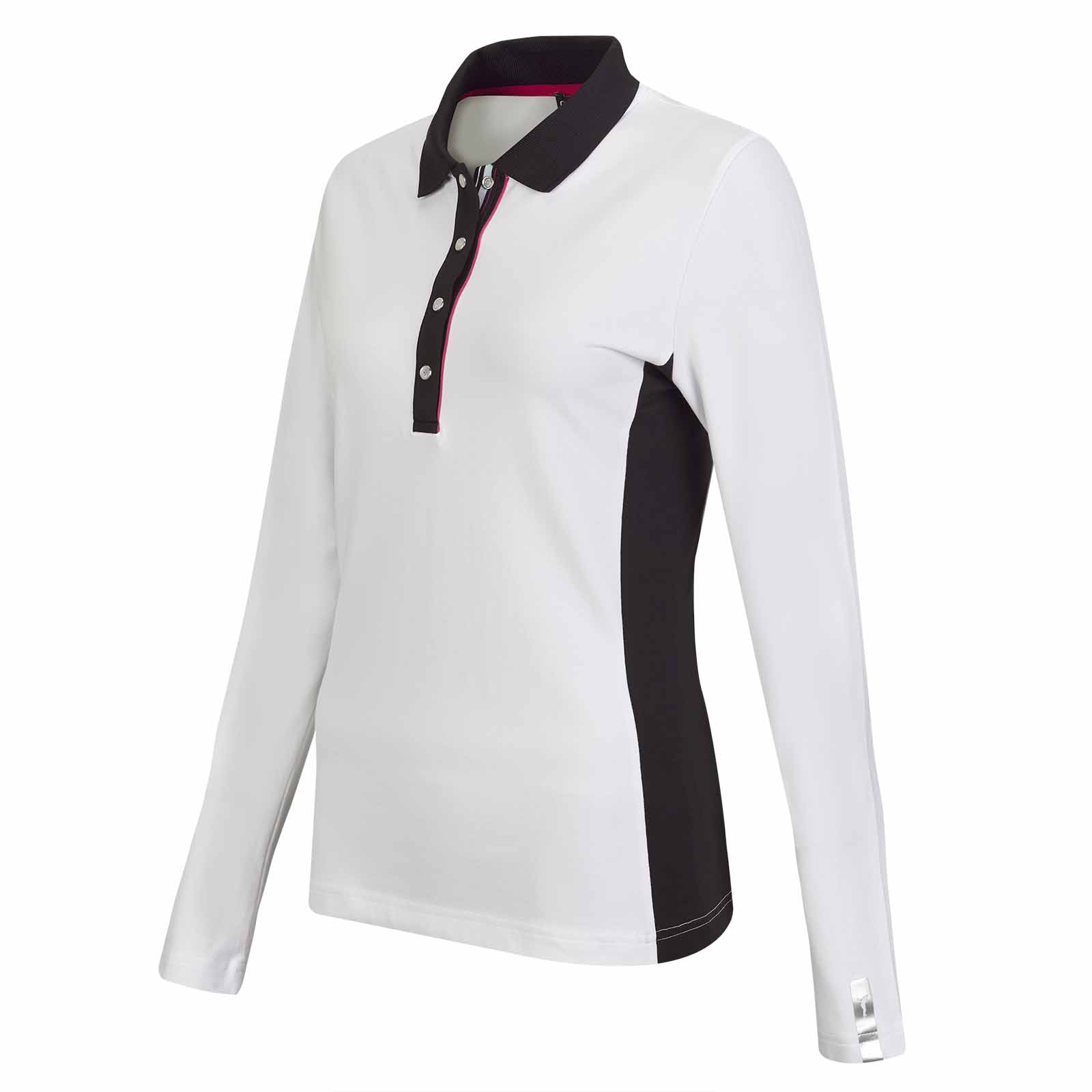 Damen Revolution Langarm Golfpolo mit Sun Protection Funktion