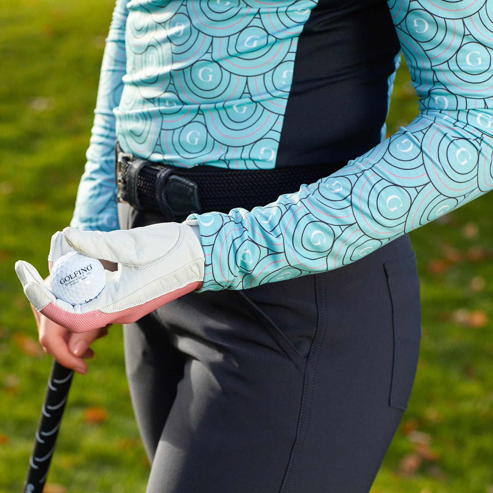 Langarm Damen Funktions-Golfpolo mit Stretchfunktion