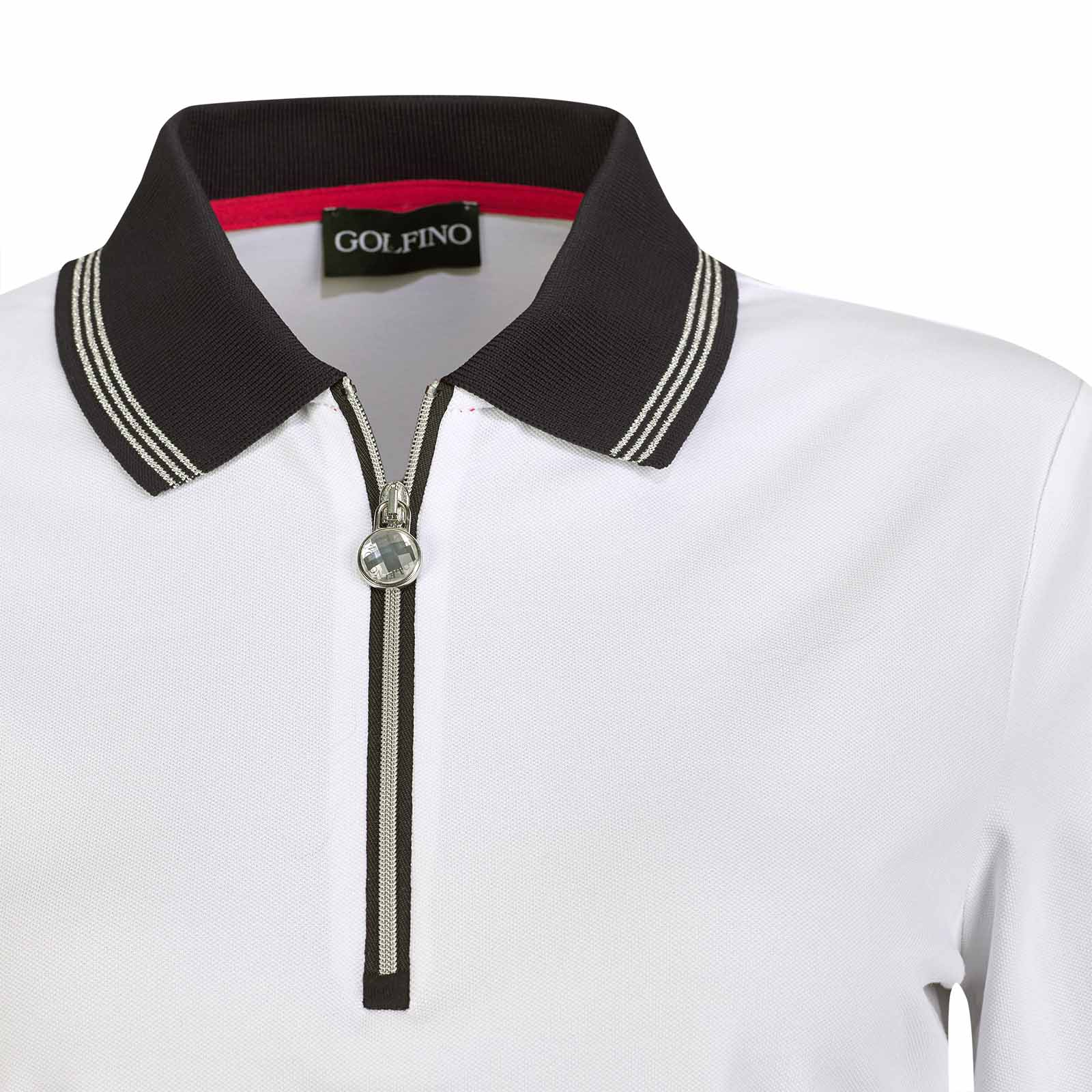 Damen Langarm Golfpolo mit Sun Protection Funktion und Troyer Zip