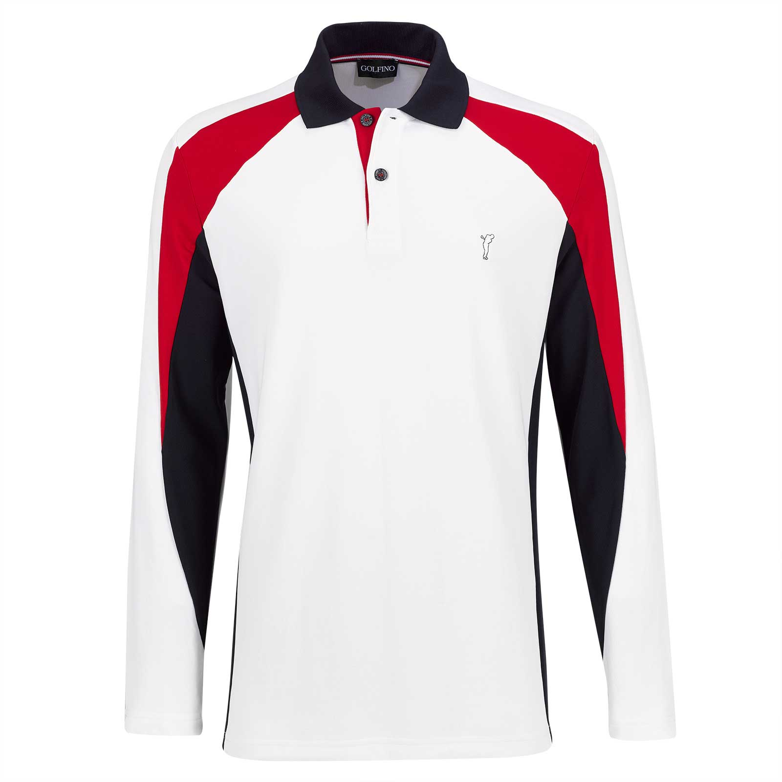 Men's long-sleeve Performance golf polo with Moisture Management