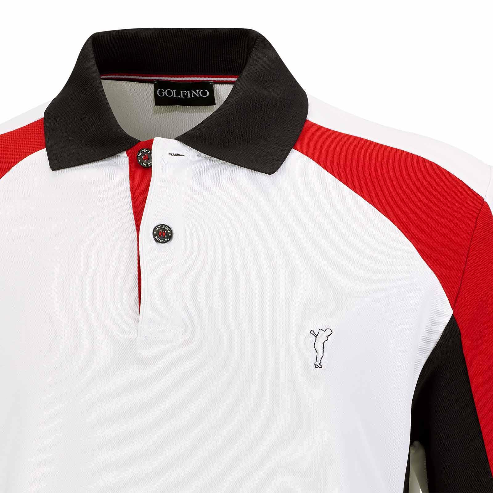 Herren Langarm Performance Golfpolo mit Moisture Management