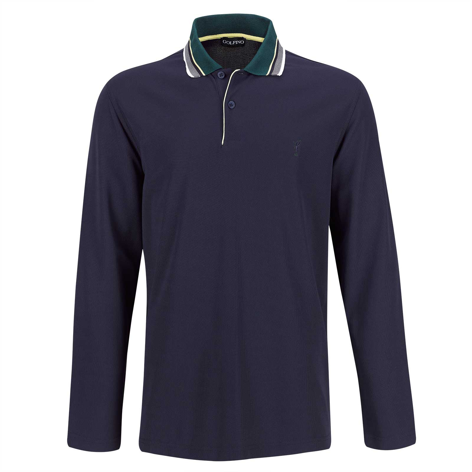 Polo de golf funcional transpirable de manga larga de hombre con Moisture Management