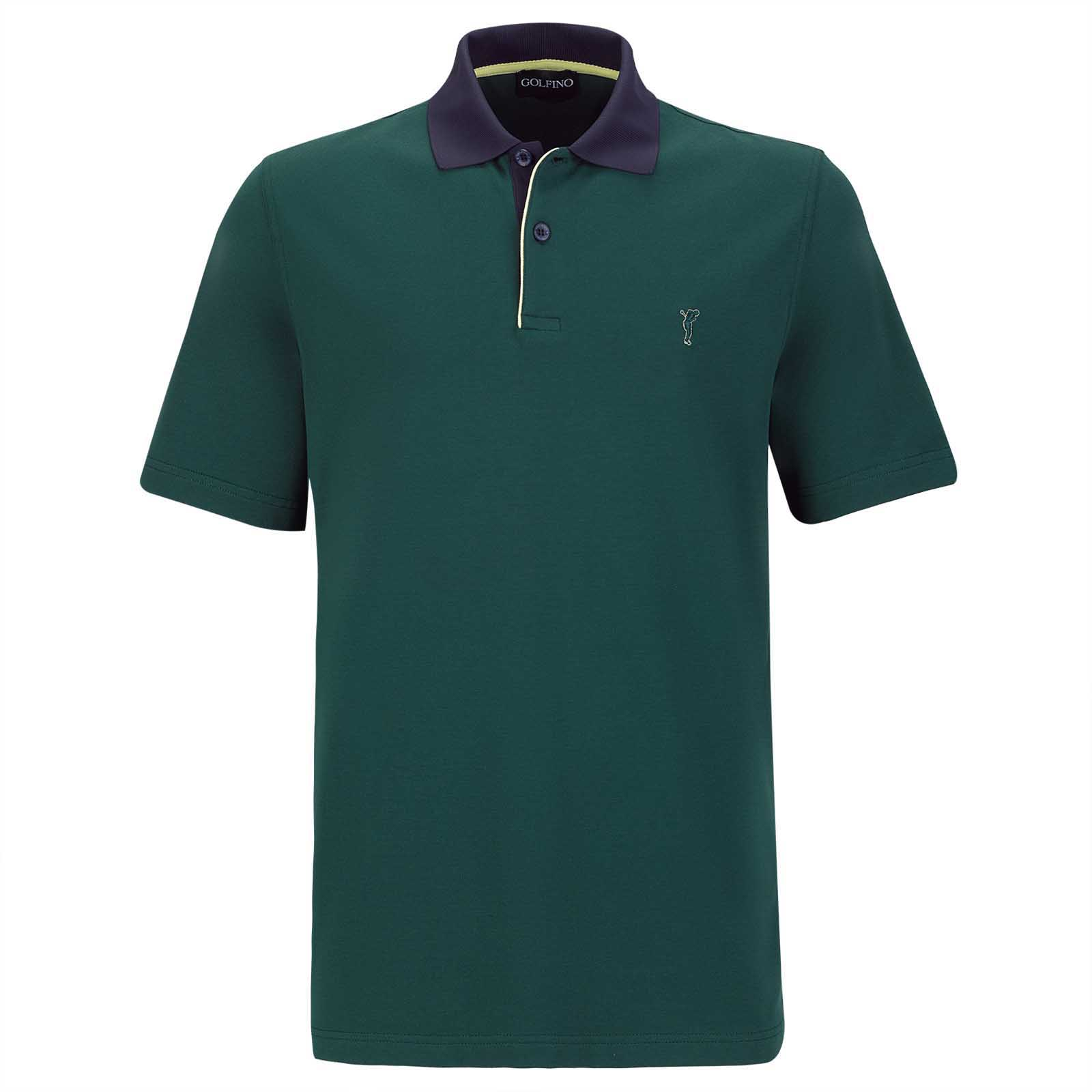Men's cotton blend short-sleeve golf polo shirt with UV protection
