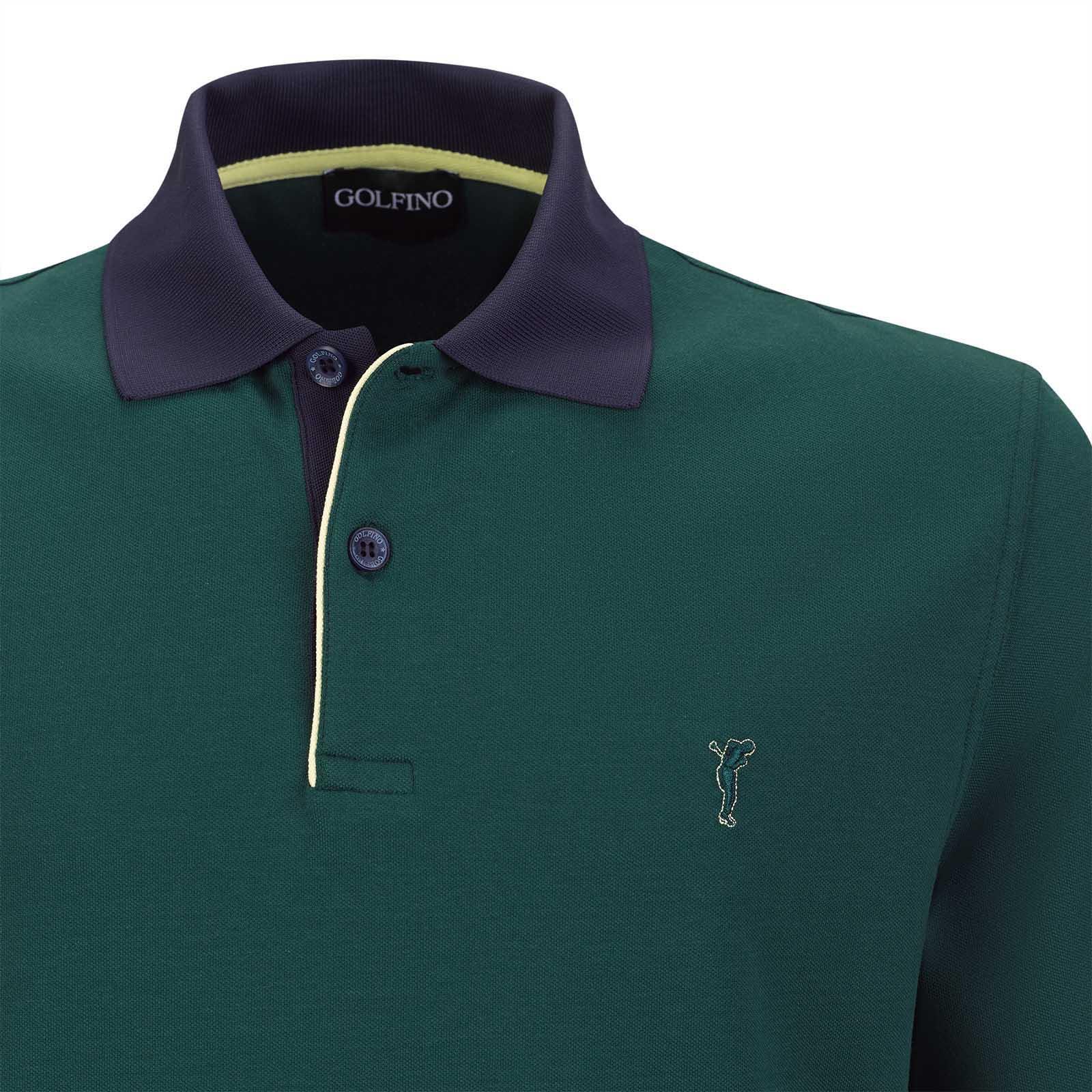 Herren Cotton-Blend Kurzarm Golfpolo mit UV-Schutz Funktion
