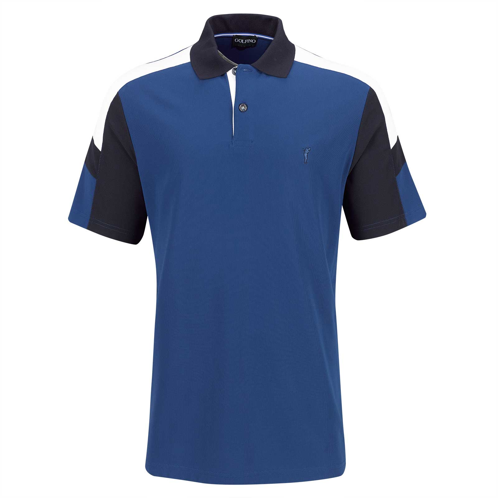 Men's short-sleeve functional golf polo with Moisture Management in Pro Look