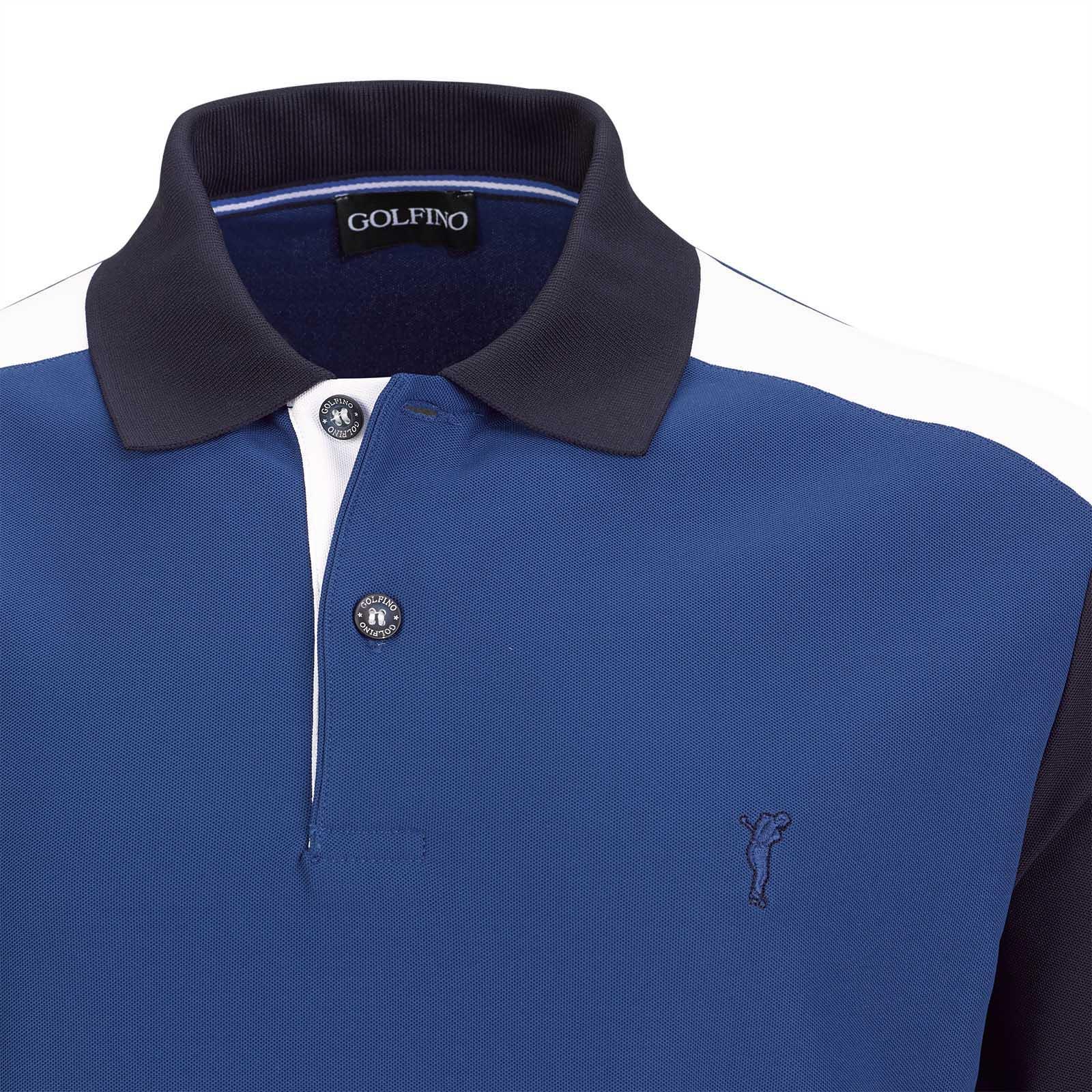 Herren Kurzarm Funktions-Golfpolo mit Moisture Management im Pro Look