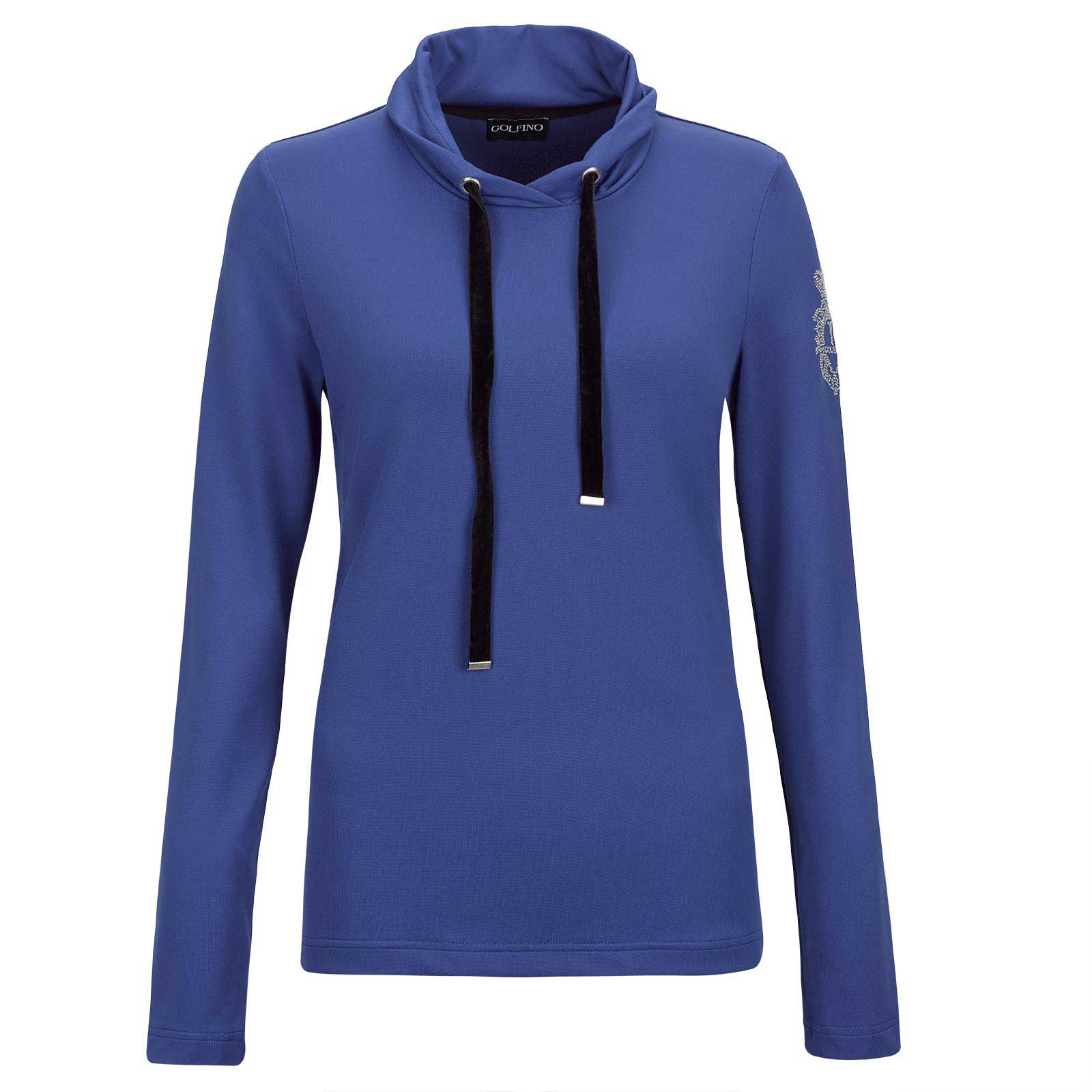Ladies' long-sleeve golf base-layer with moisture management and stretch function