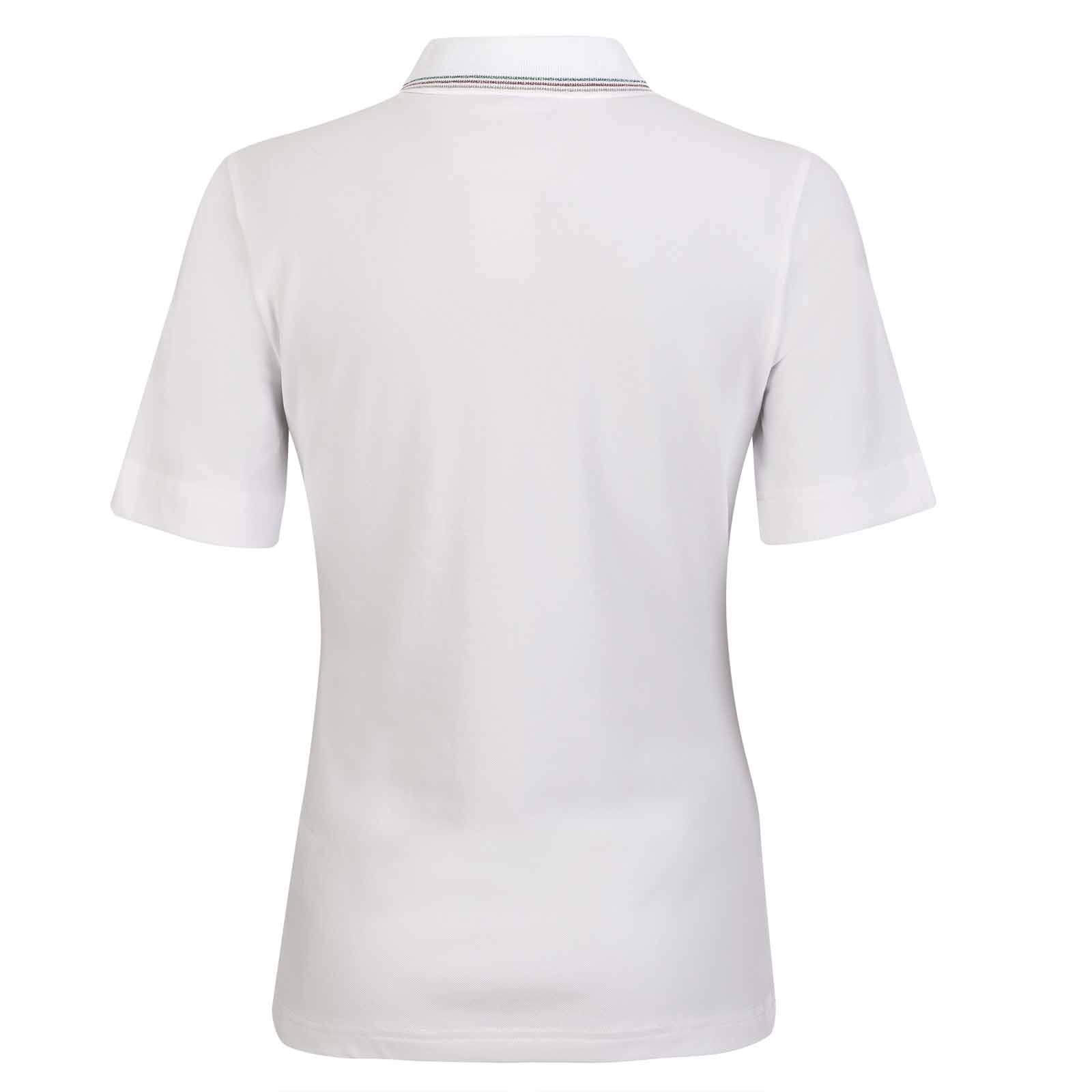 Damen Kurzarm Funktions-Golfpolo mit Sun Protection aus feiner Cotton-Blend