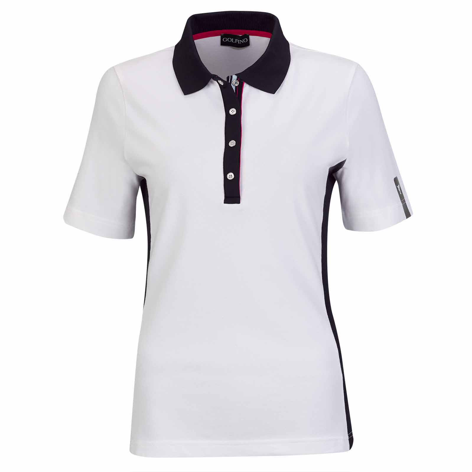 Damen Kurzarm Performance Golfpolo mit Sun Protection und Stretchfunktion