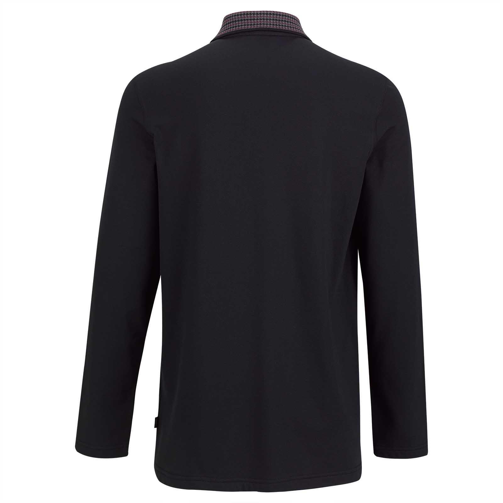 Herren Cotton-Blend Langarm Golfpolo mit UV-Schutz Funktion