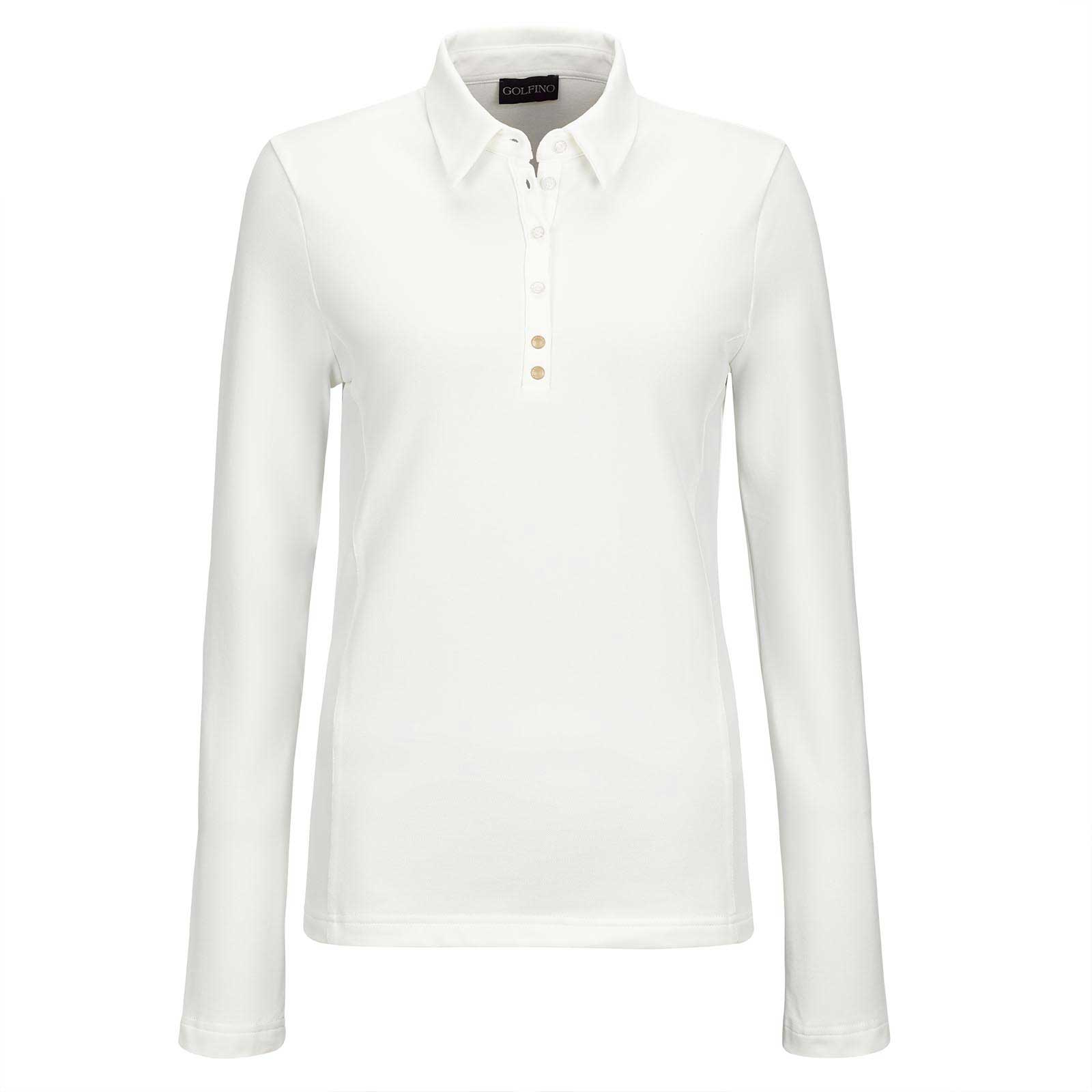 Damen Langarm Basic Golfpolo mit Sun Protection Funktion