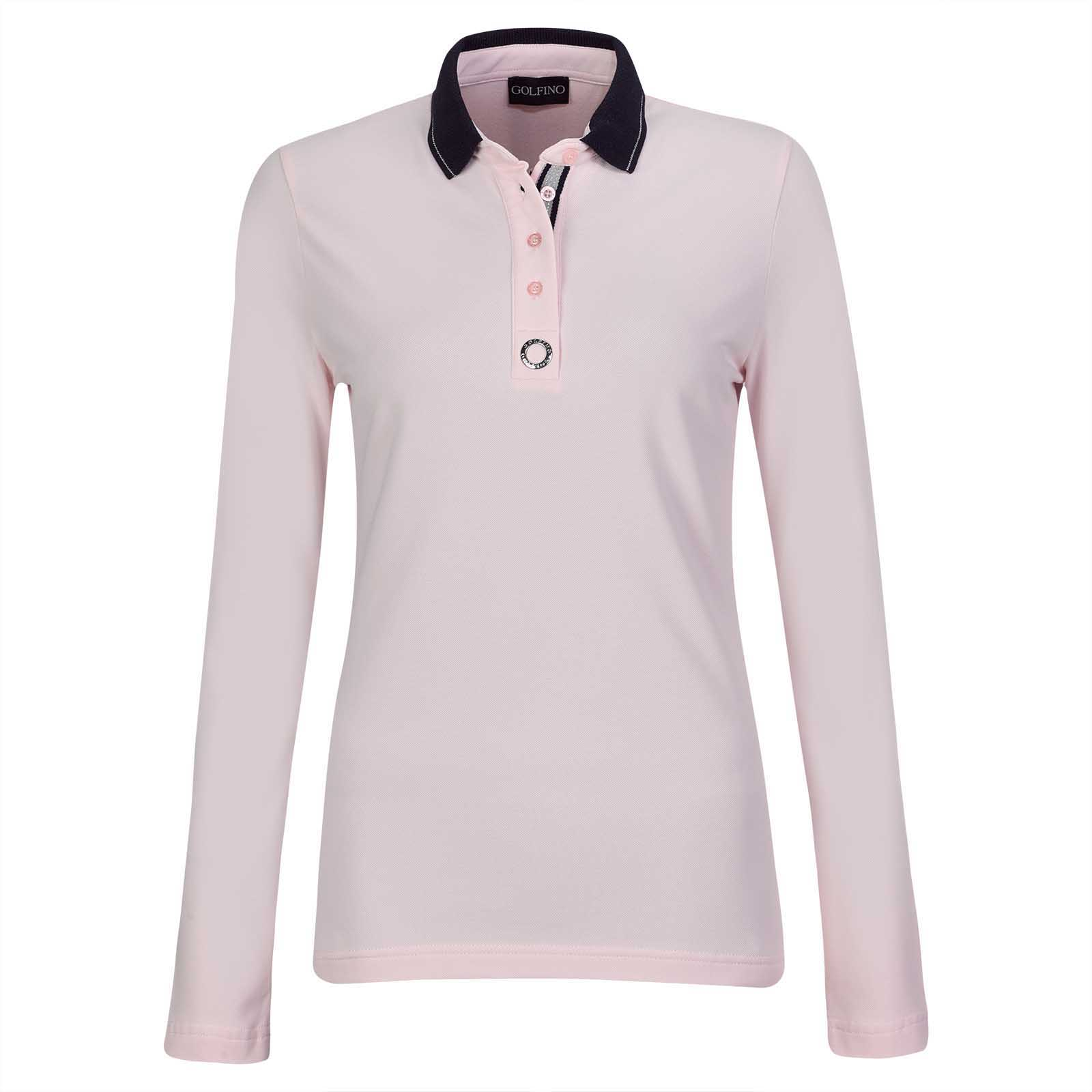 Silver Touch Damen Langarm Golfpolo mit Sun Protection Funktion