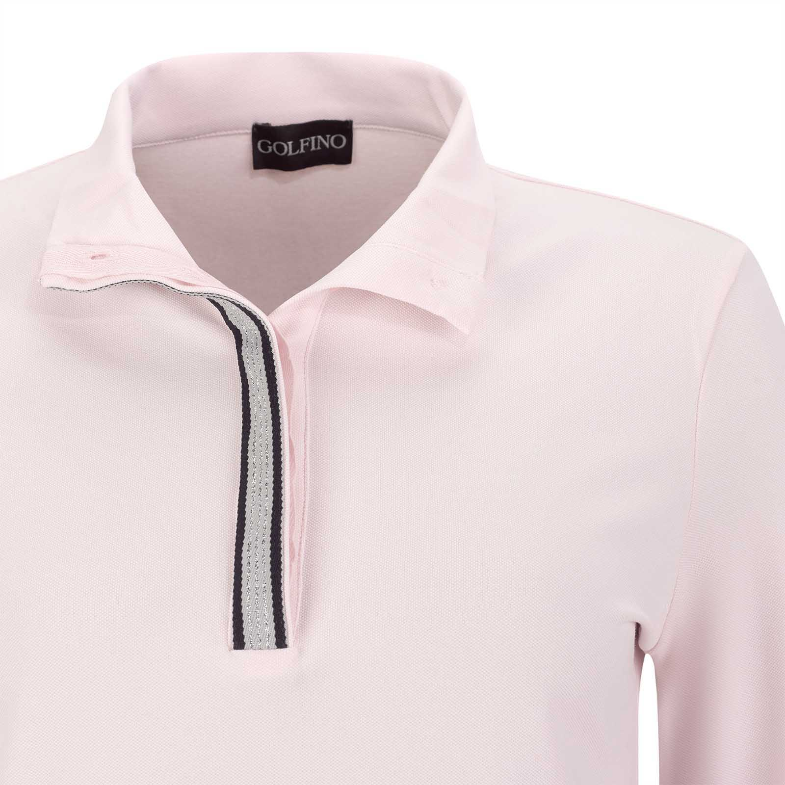 Damen Silver Touch Langarm Funktions-Golfpolo mit Sun Protection