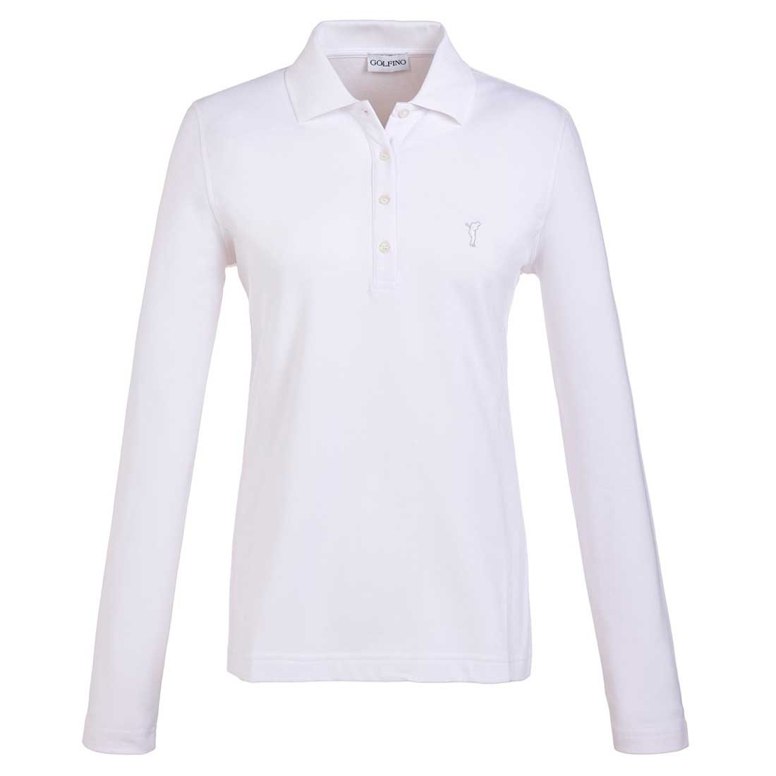 Wärmendes Damen Langarm Golfpolo mit Sun und Cold Protection in Slim Fit