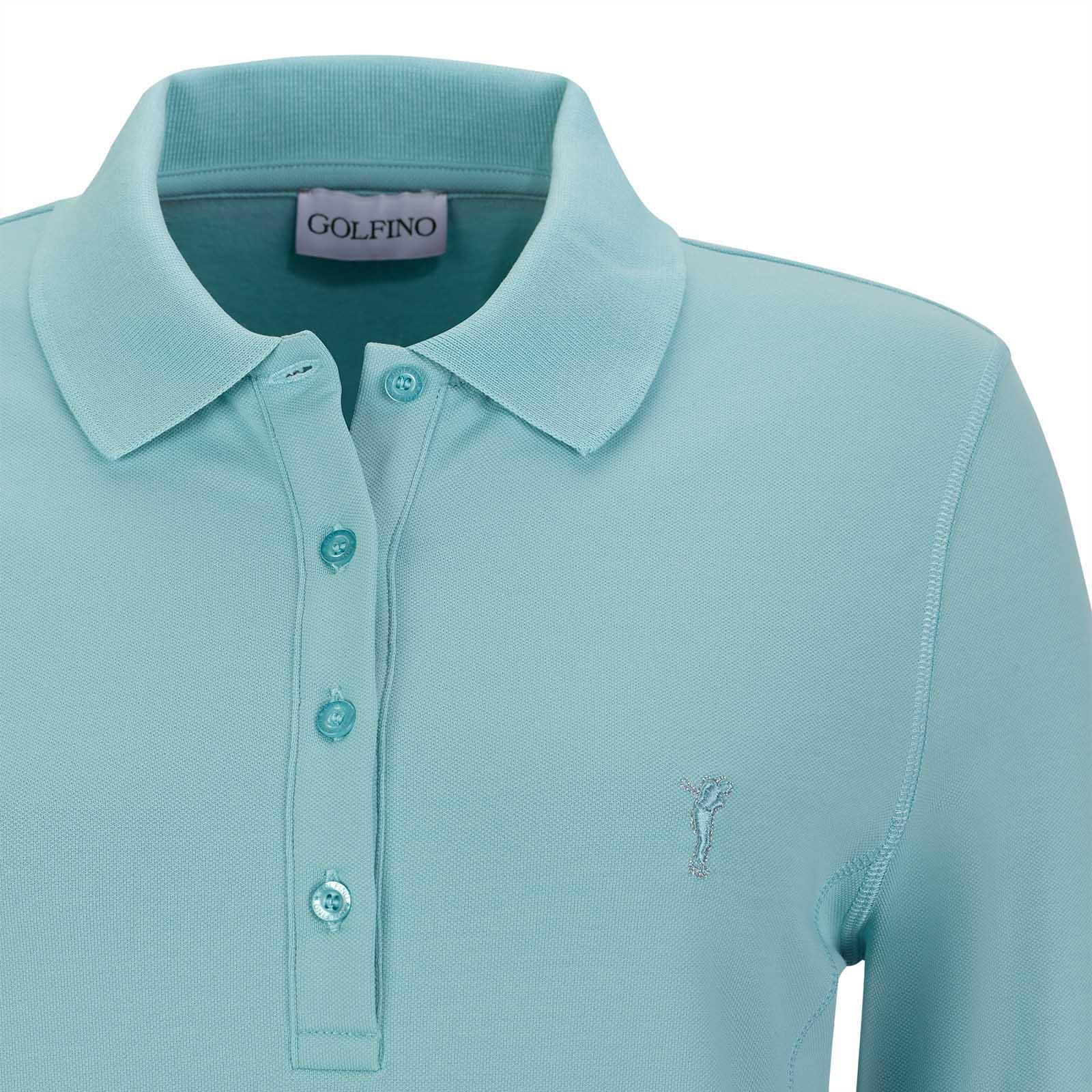 Wärmendes Damen Langarm Golfpolo mit Sun und Cold Protection in Slim Fit