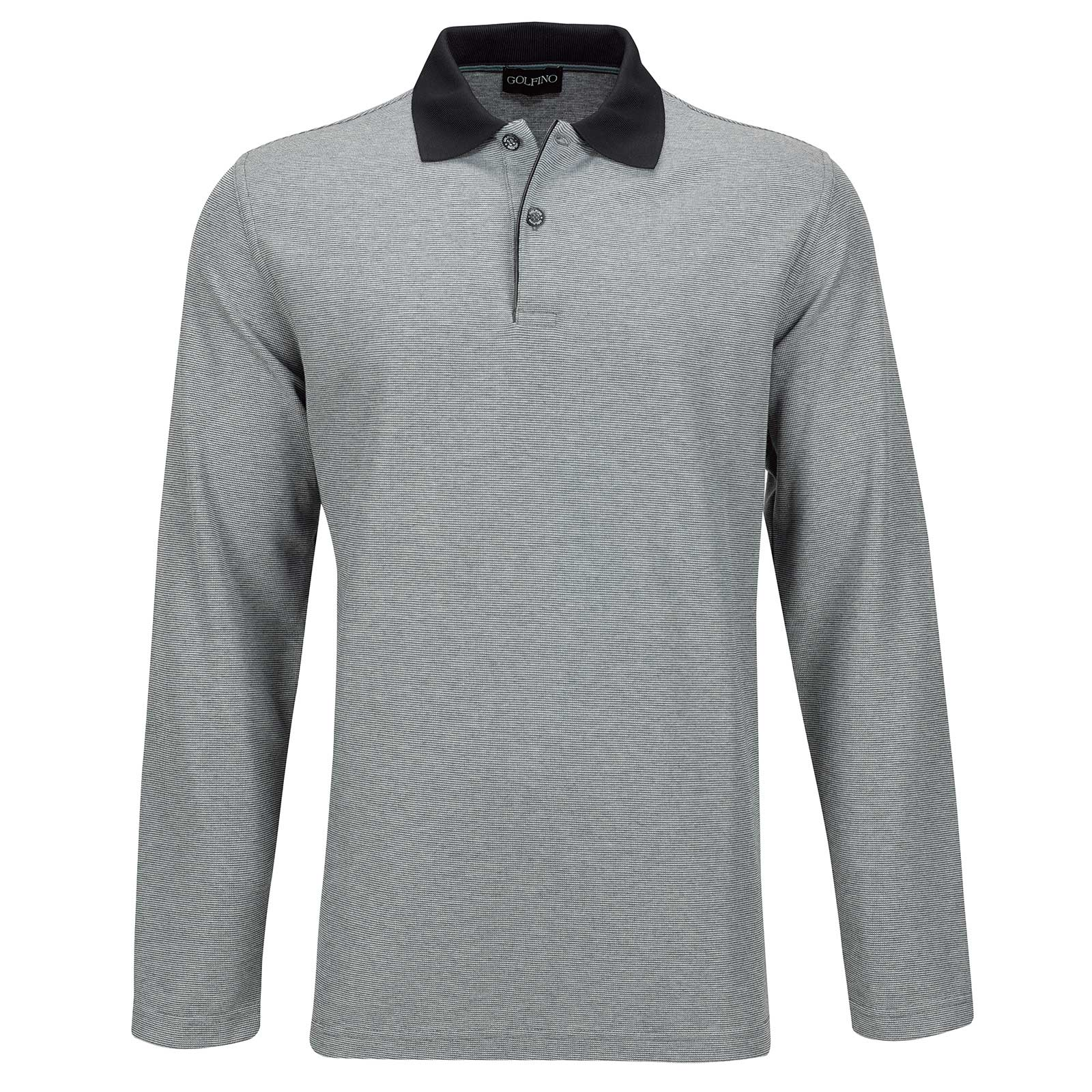 Silver Protection Herren Langarm Golfpolo mit Moisture Management in Regular Fit