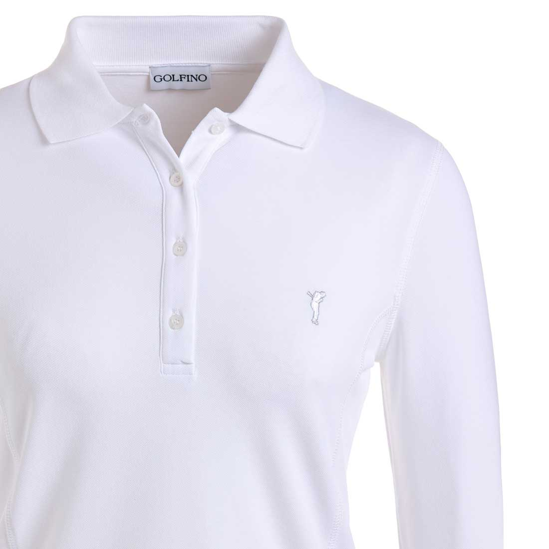 Sun Protection Lightweight Damen Langarm Golfpolo aus feinem Cotton Blend