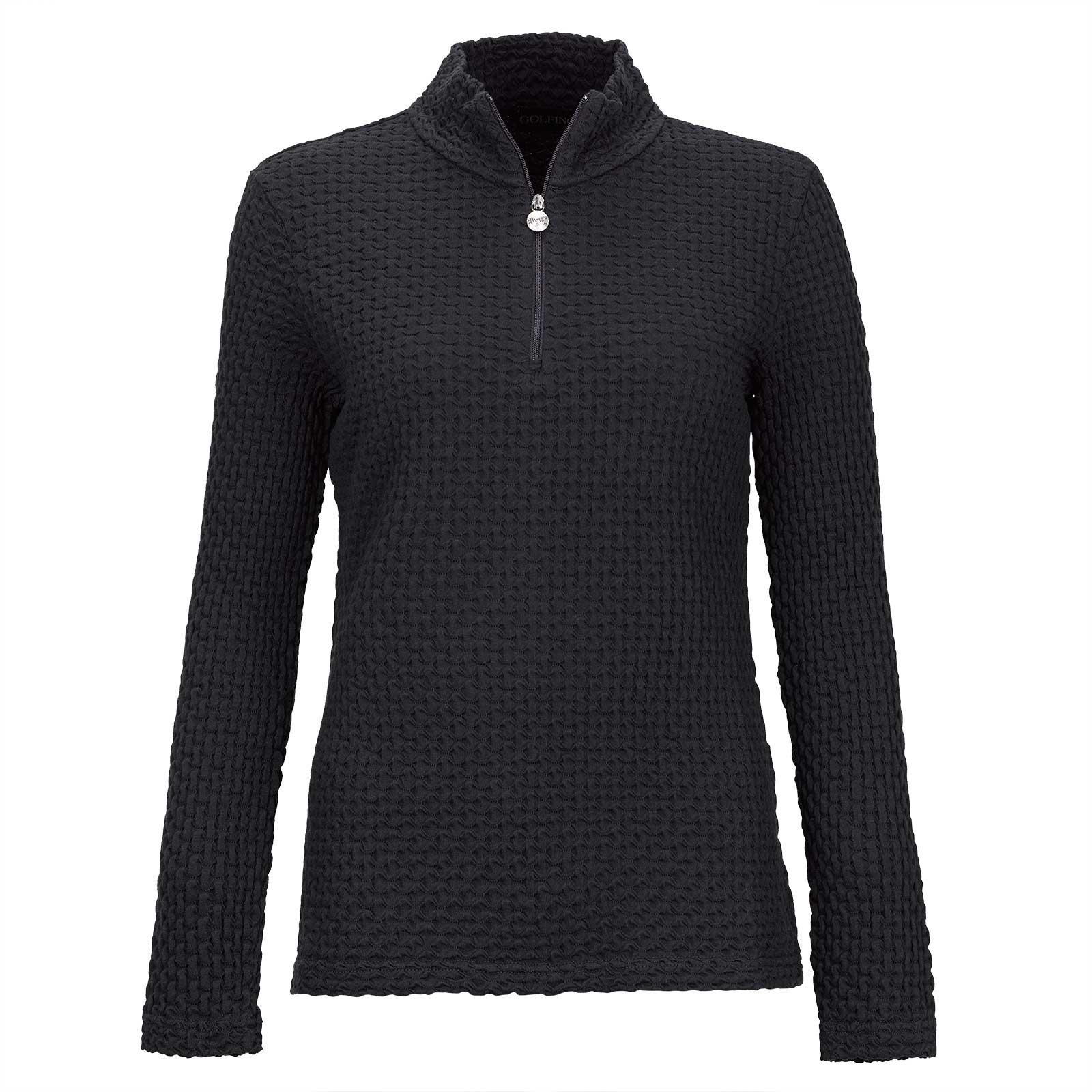Jersey con cremallera elástica funcional estampado de algodón de mujer en corte ajustado