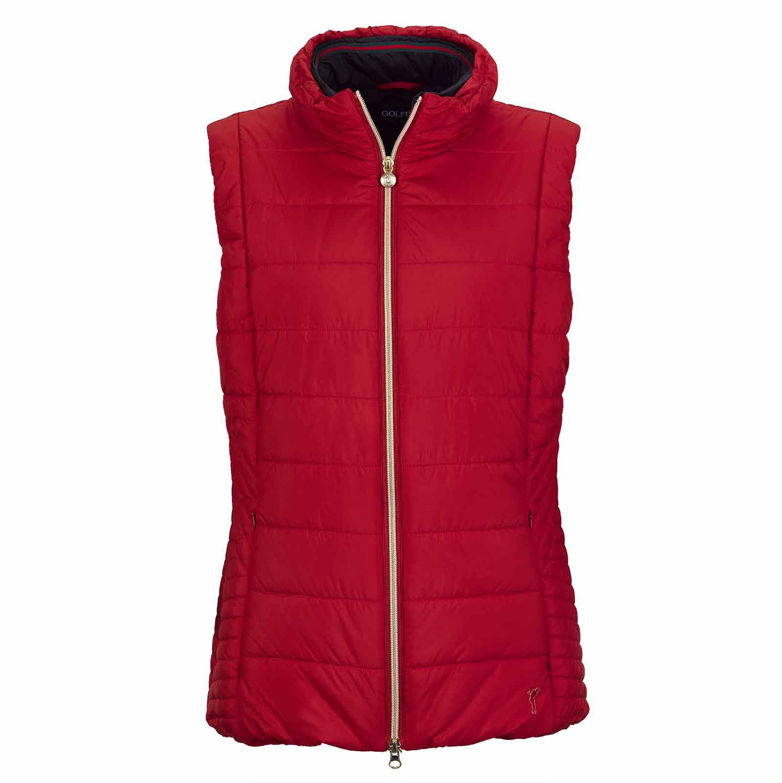 Ladies' premium wind protection golf waistcoat with very good insulation