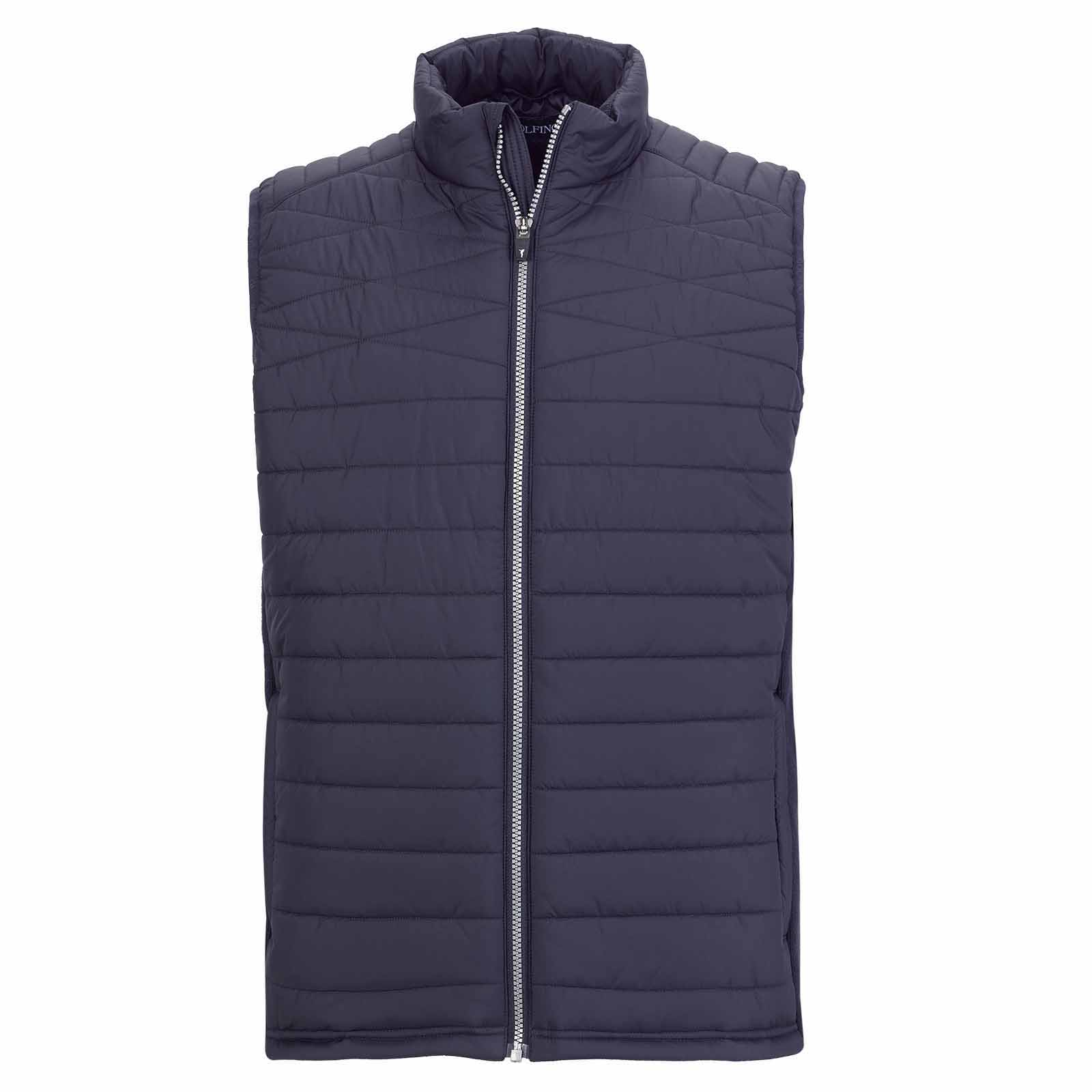 Padded Wind Protection men's golf waistcoat with elasticated sides