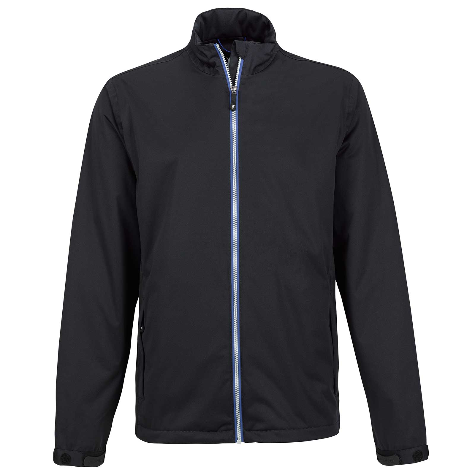 Water- and windproof men's rain jacket without hood with light lining