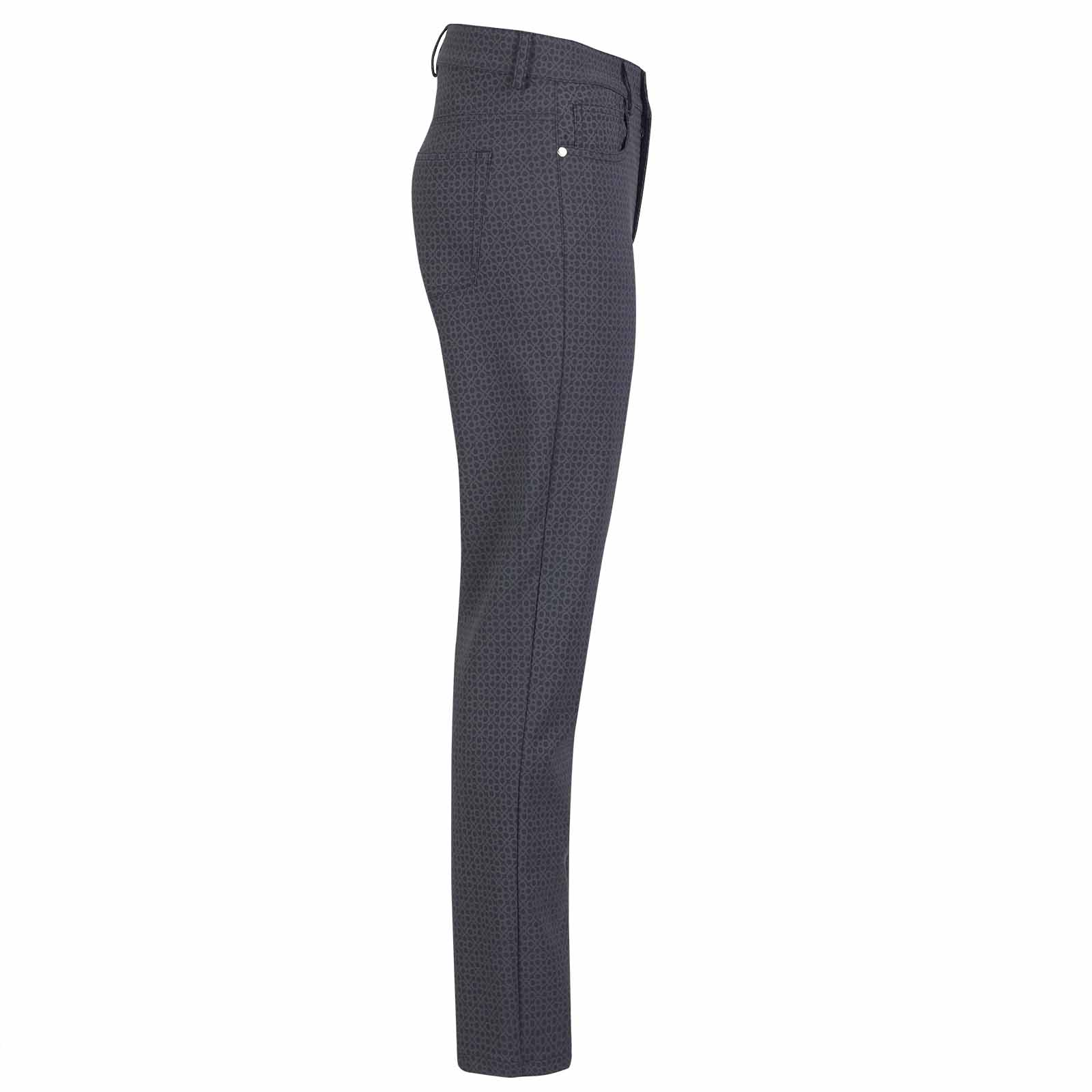 Damen 7/8 Print-Golfhose aus 4-Way-Stretch mit modischem Muster
