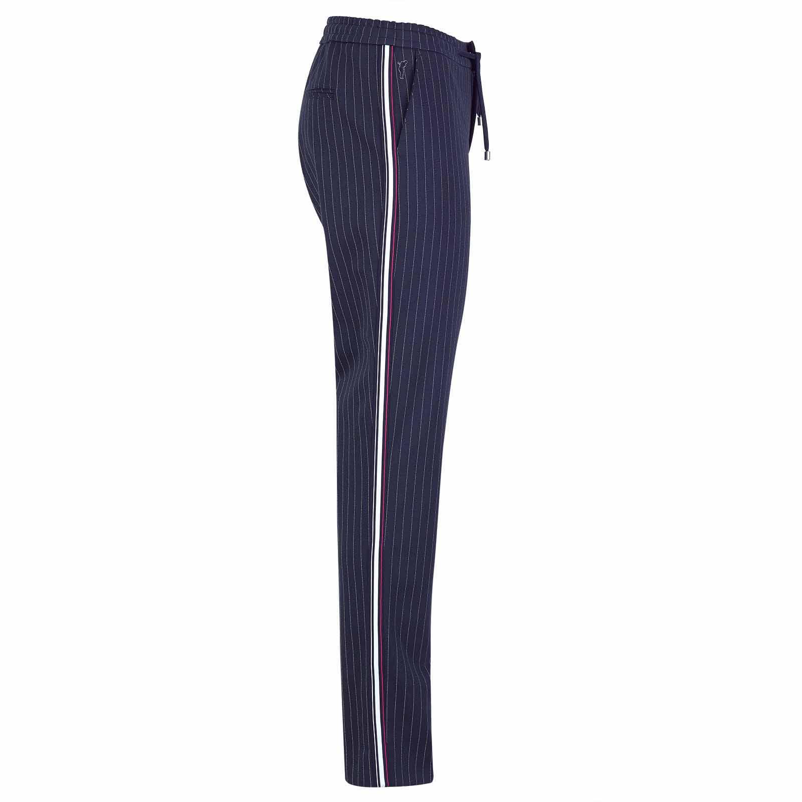 Damen 7/8 Nadelstreifen Golfhose in Slim Fit mit Stretchfunktion