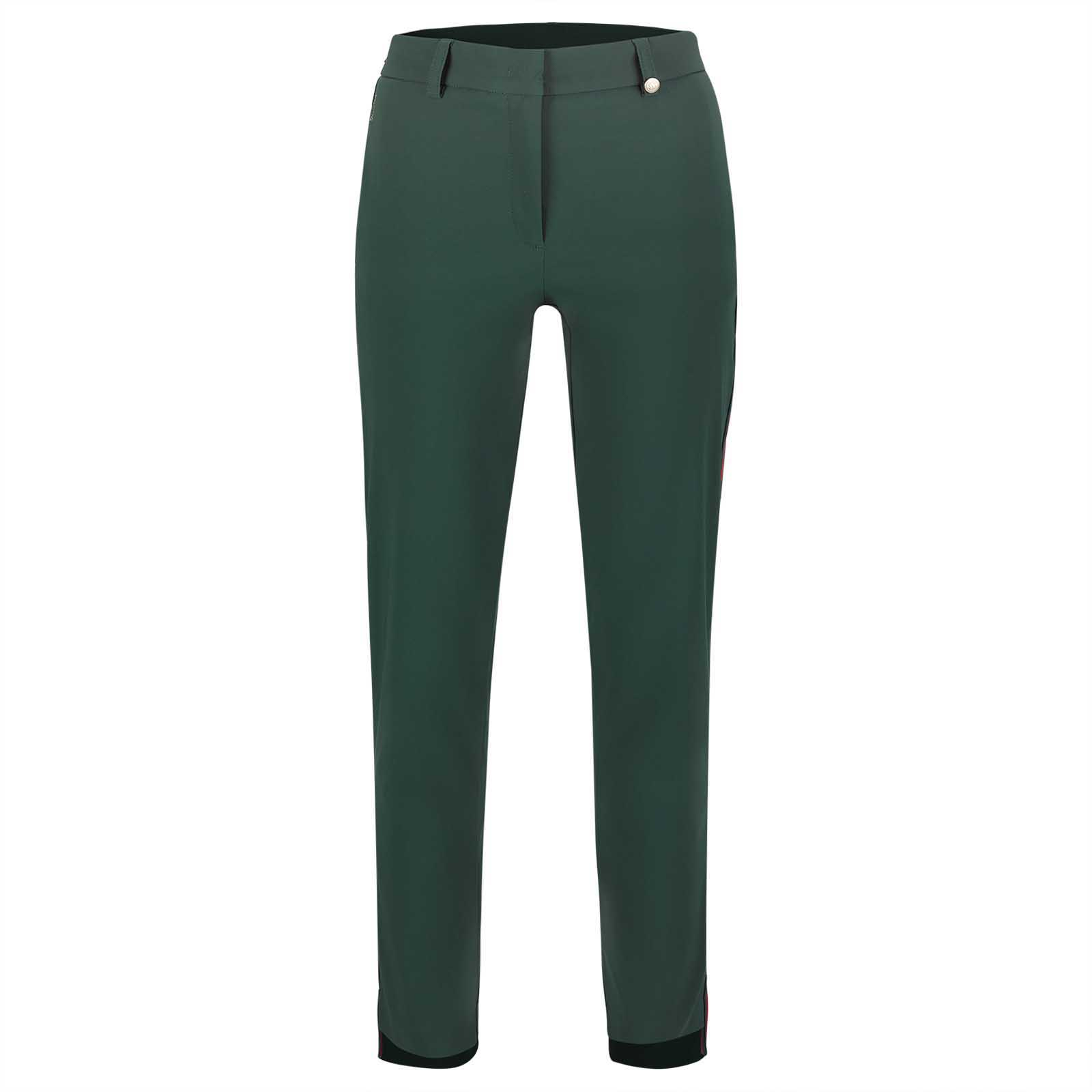 Ladies' waterproof 7/8 golf trousers made from techno stretch material with UV protection