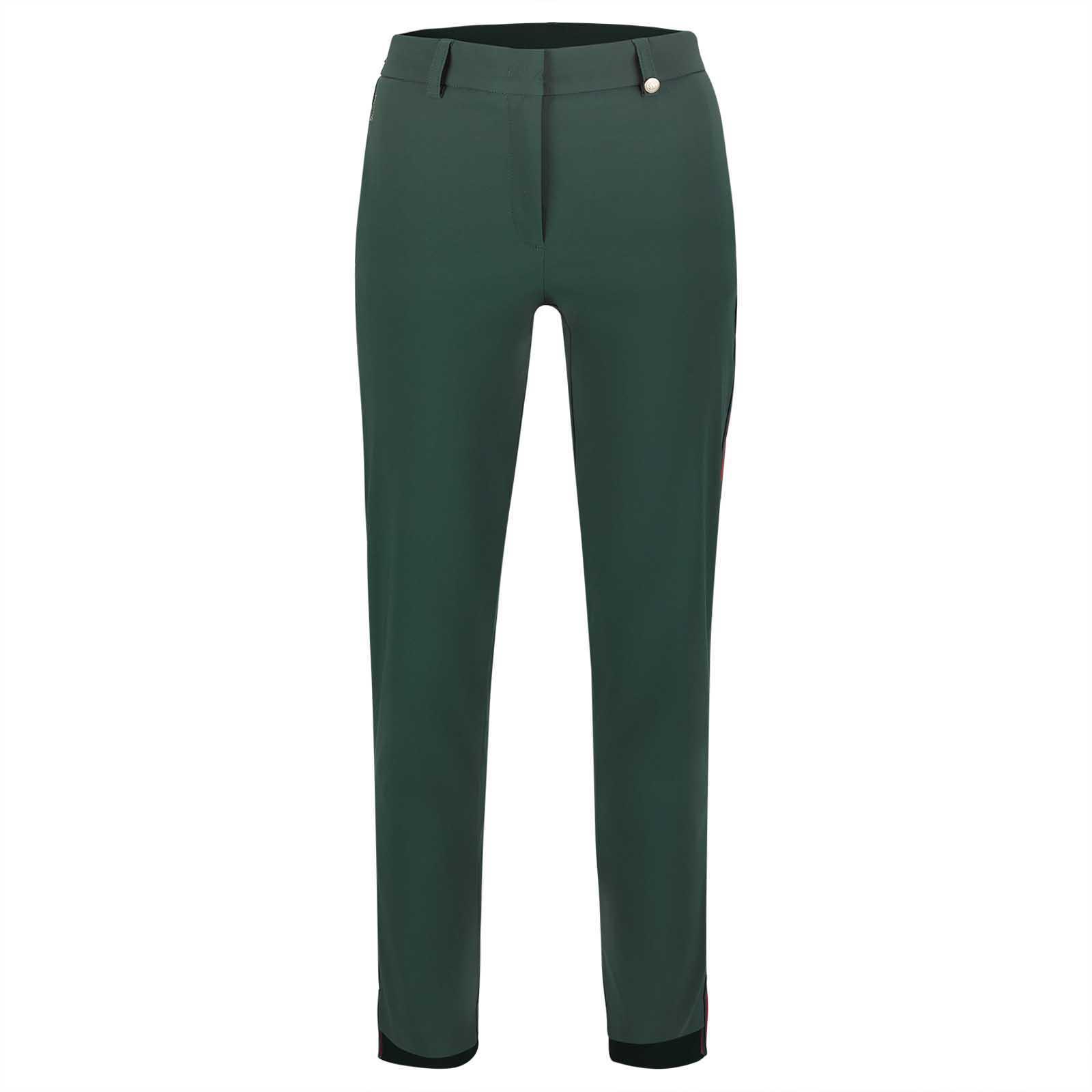 Pantalón elástico hidrófugo de golf 7/8 de mujer Techno Stretch con protección solar
