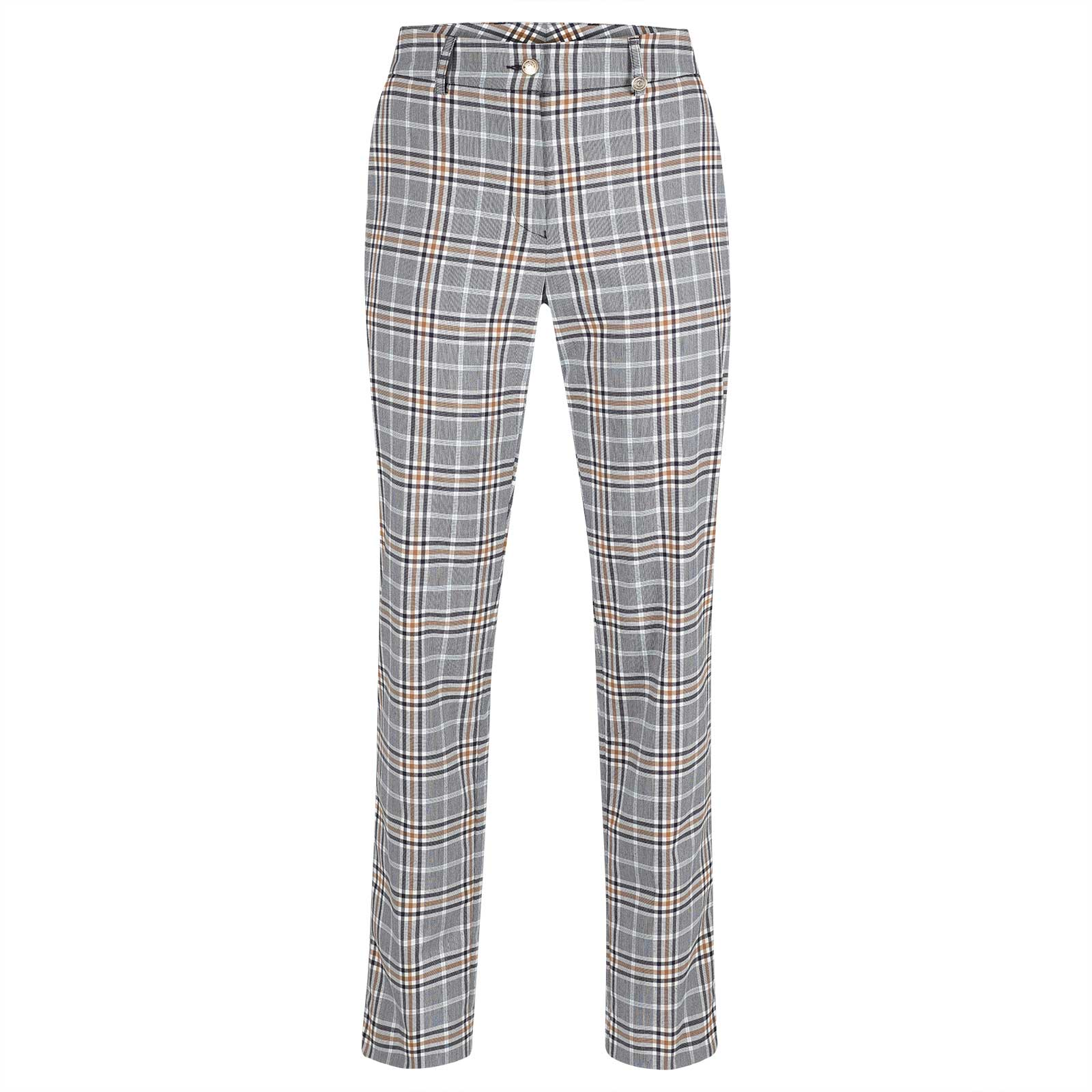 Ladies' 7/8 checked golf trousers with excellent stretch properties